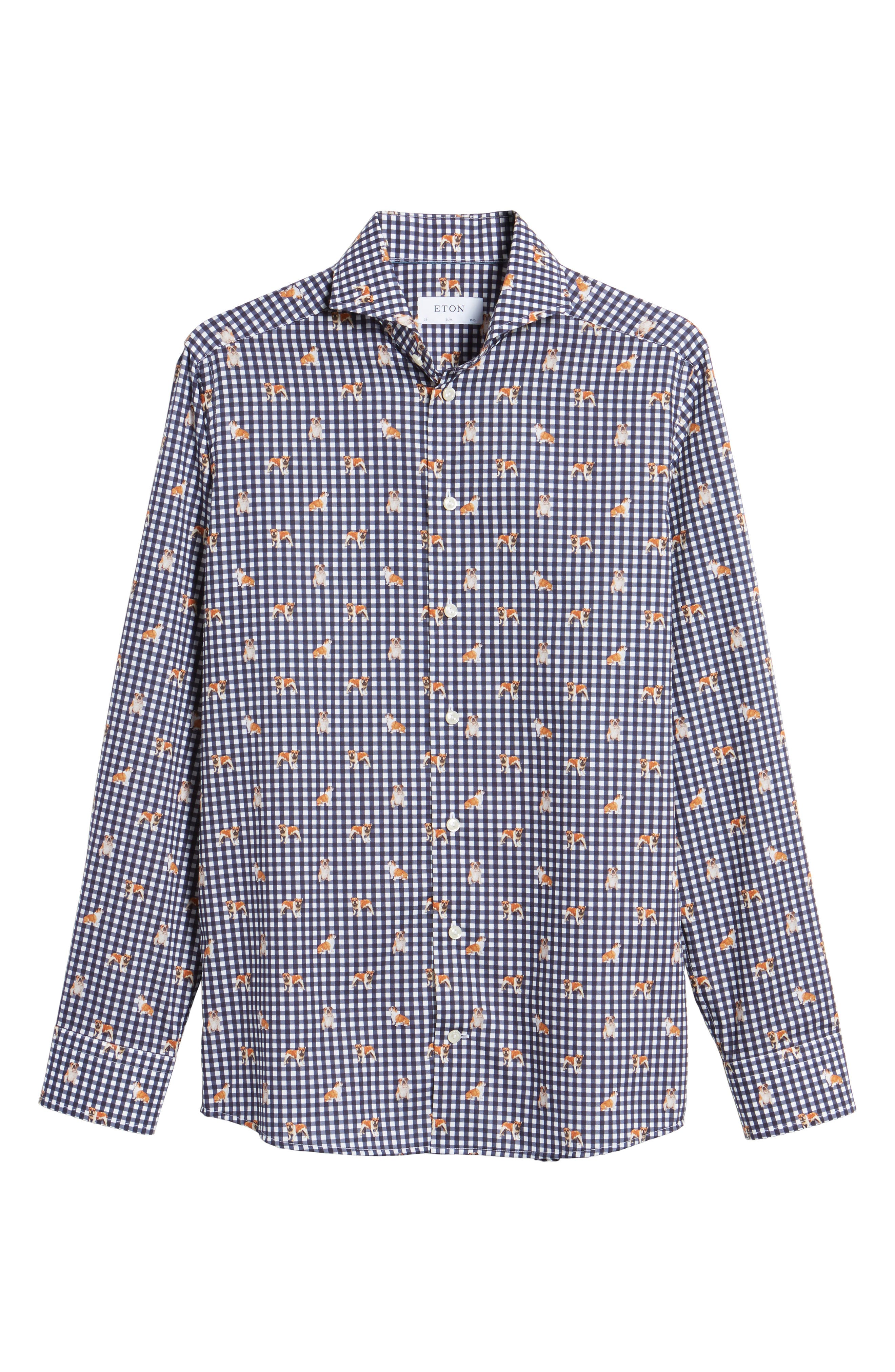 Alternate Image 5  - Eton Slim Fit Print Dress Shirt