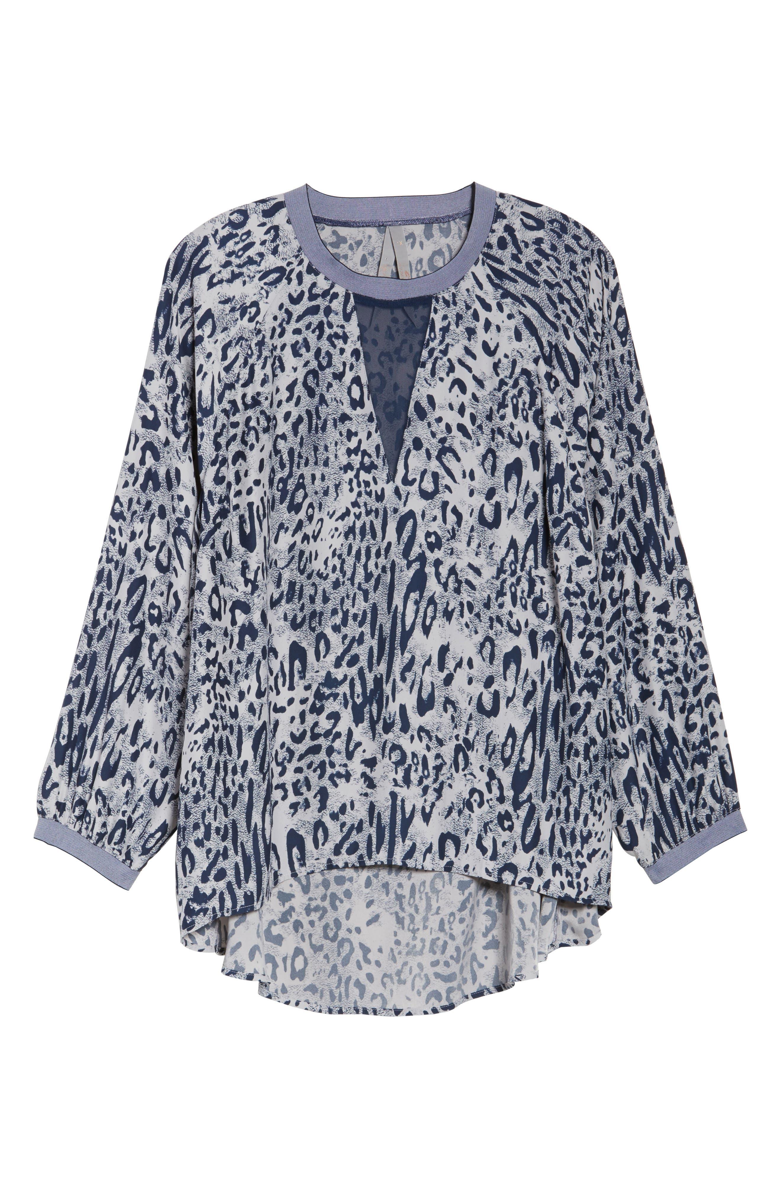 Alternate Image 6  - Melissa McCarthy Seven7 Leopard Print Raglan Blouse (Plus Size)