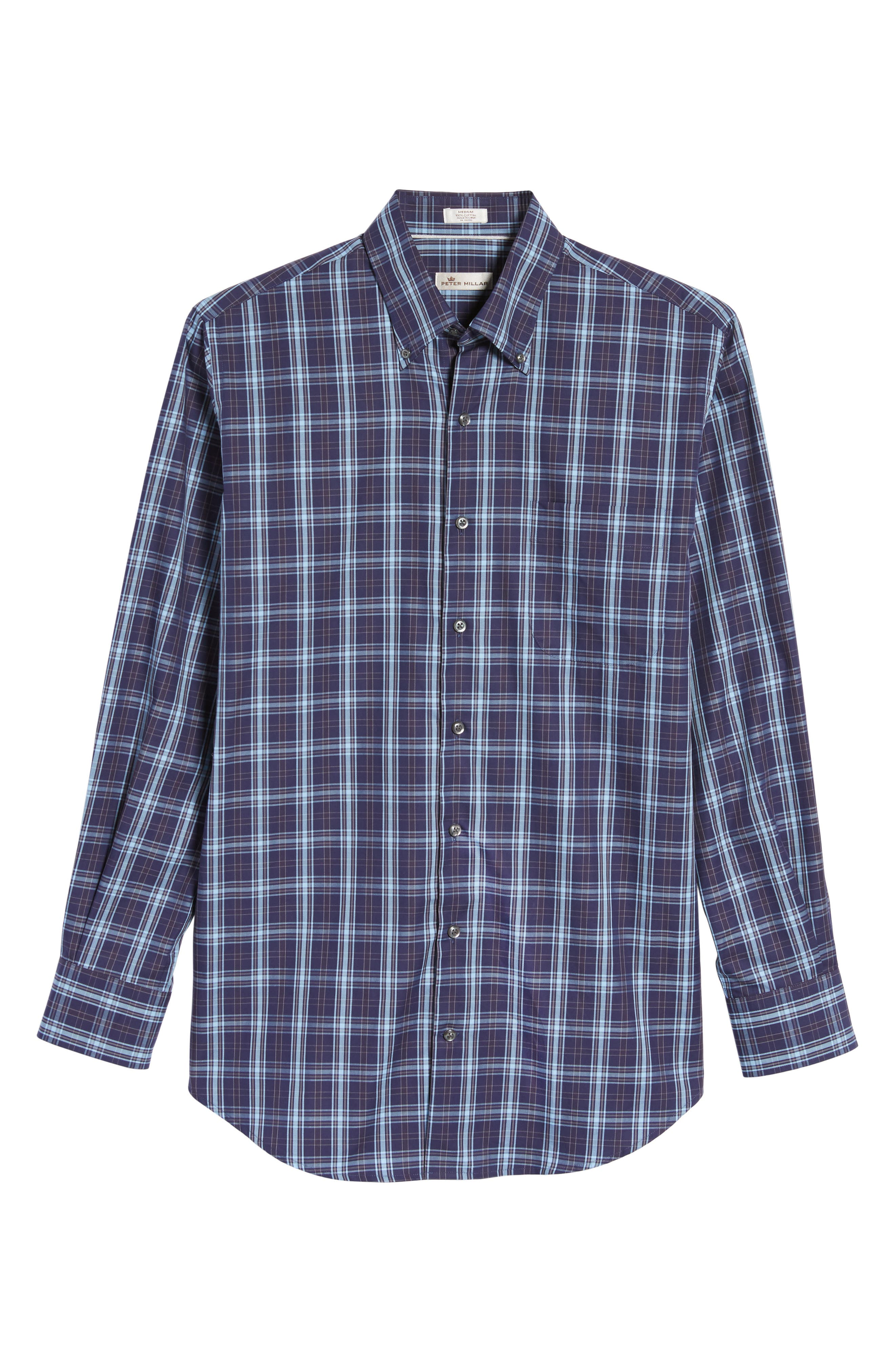 Alternate Image 6  - Peter Millar Regular Fit Blackfoot Plaid Sport Shirt