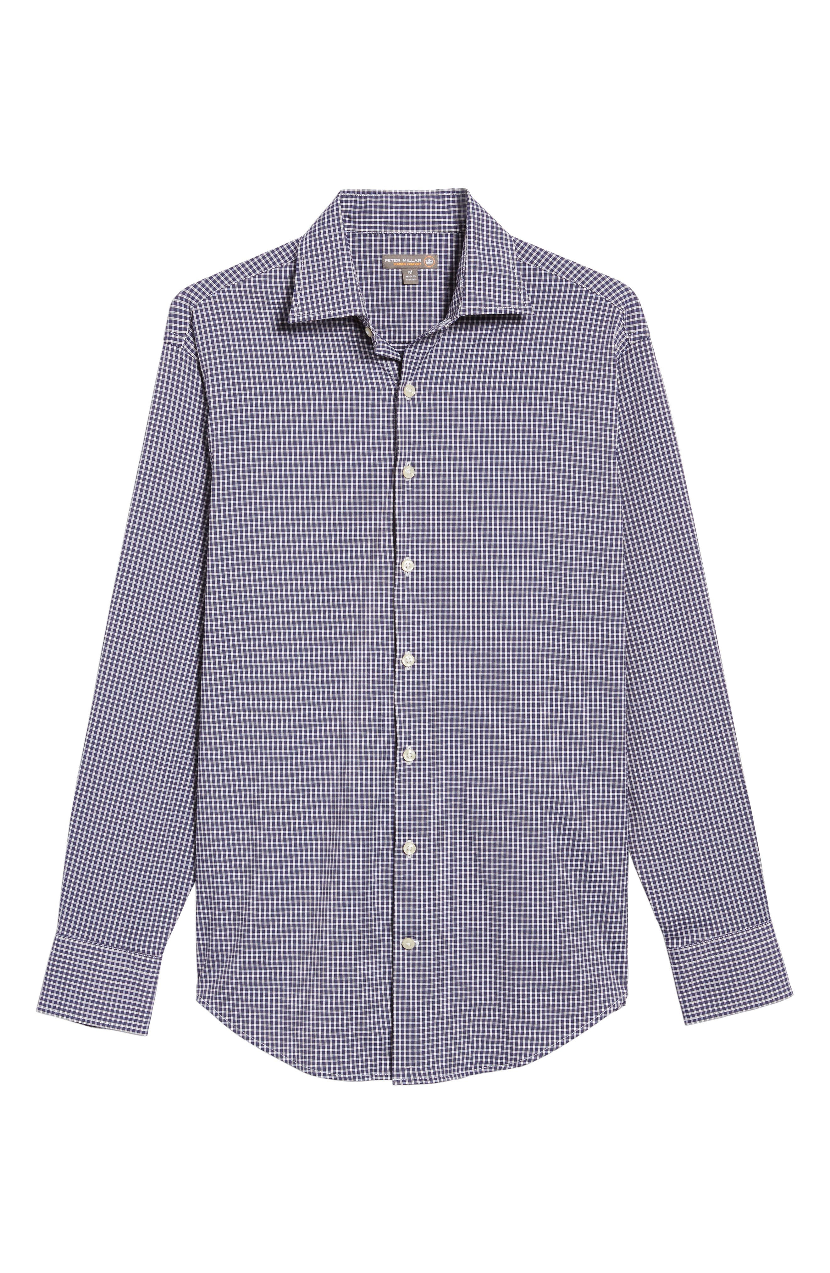 Alternate Image 6  - Peter Millar Statler Regular Fit Check Performance Sport Shirt