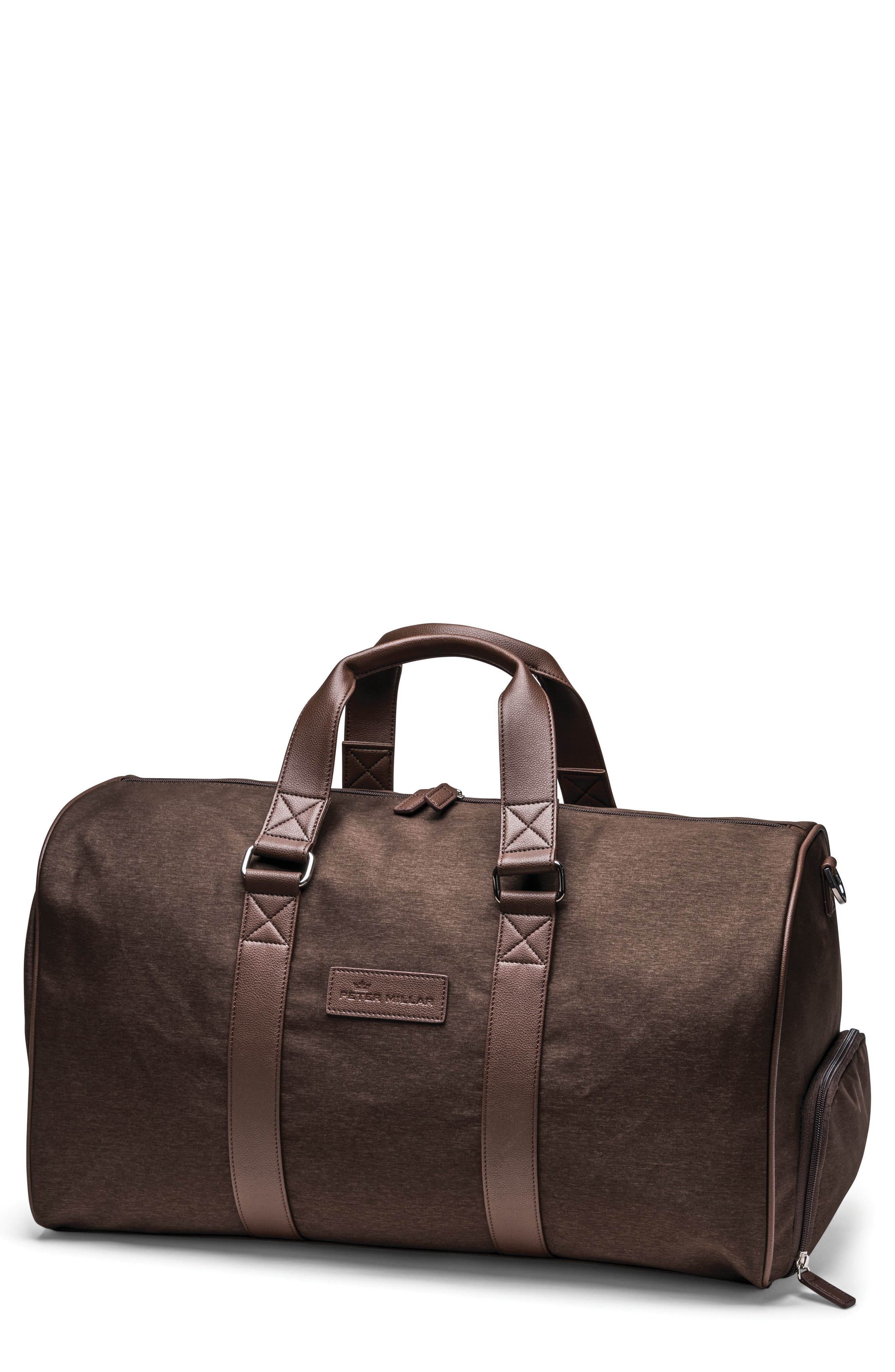 Twill Duffel Bag,                             Main thumbnail 1, color,                             Chocolate