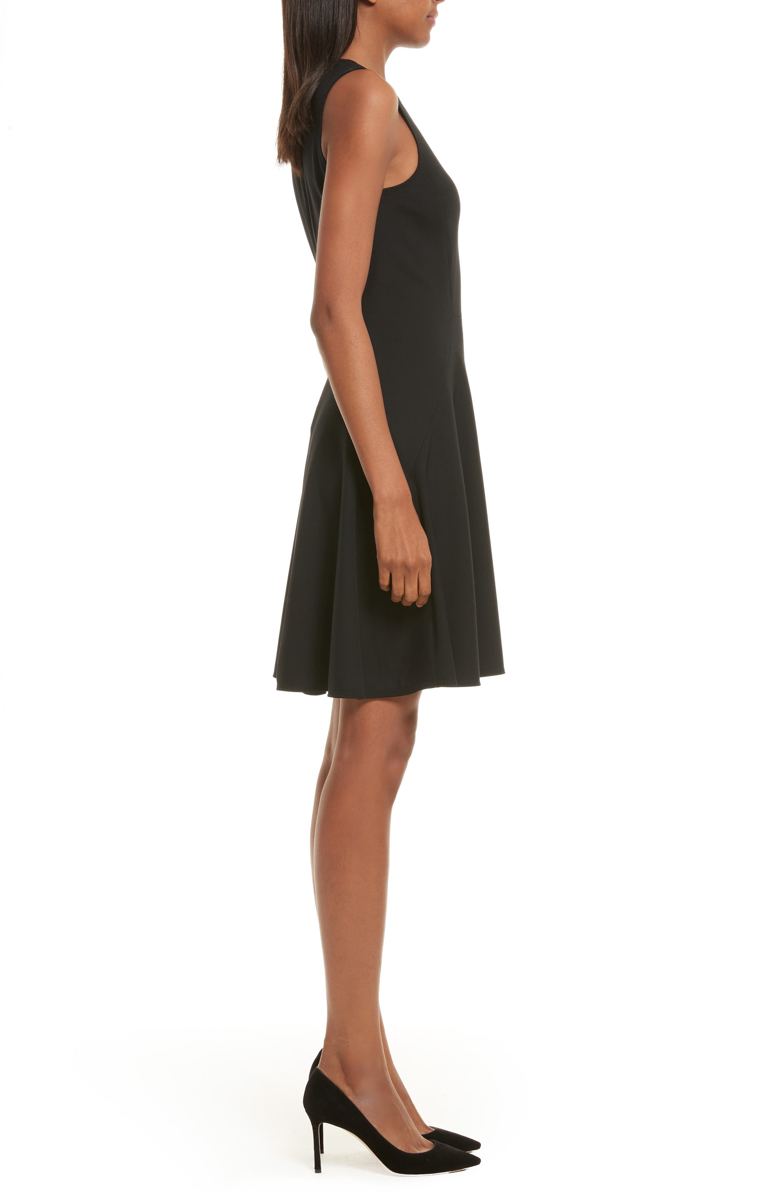 Harlock Fit & Flare Dress,                             Alternate thumbnail 3, color,                             Black