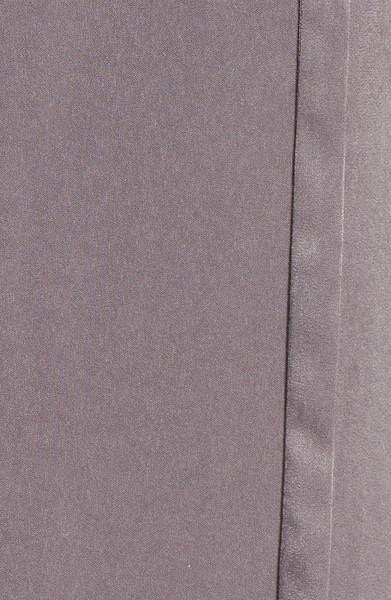 Satin Midi Slipdress,                             Alternate thumbnail 5, color,                             Dark Grey