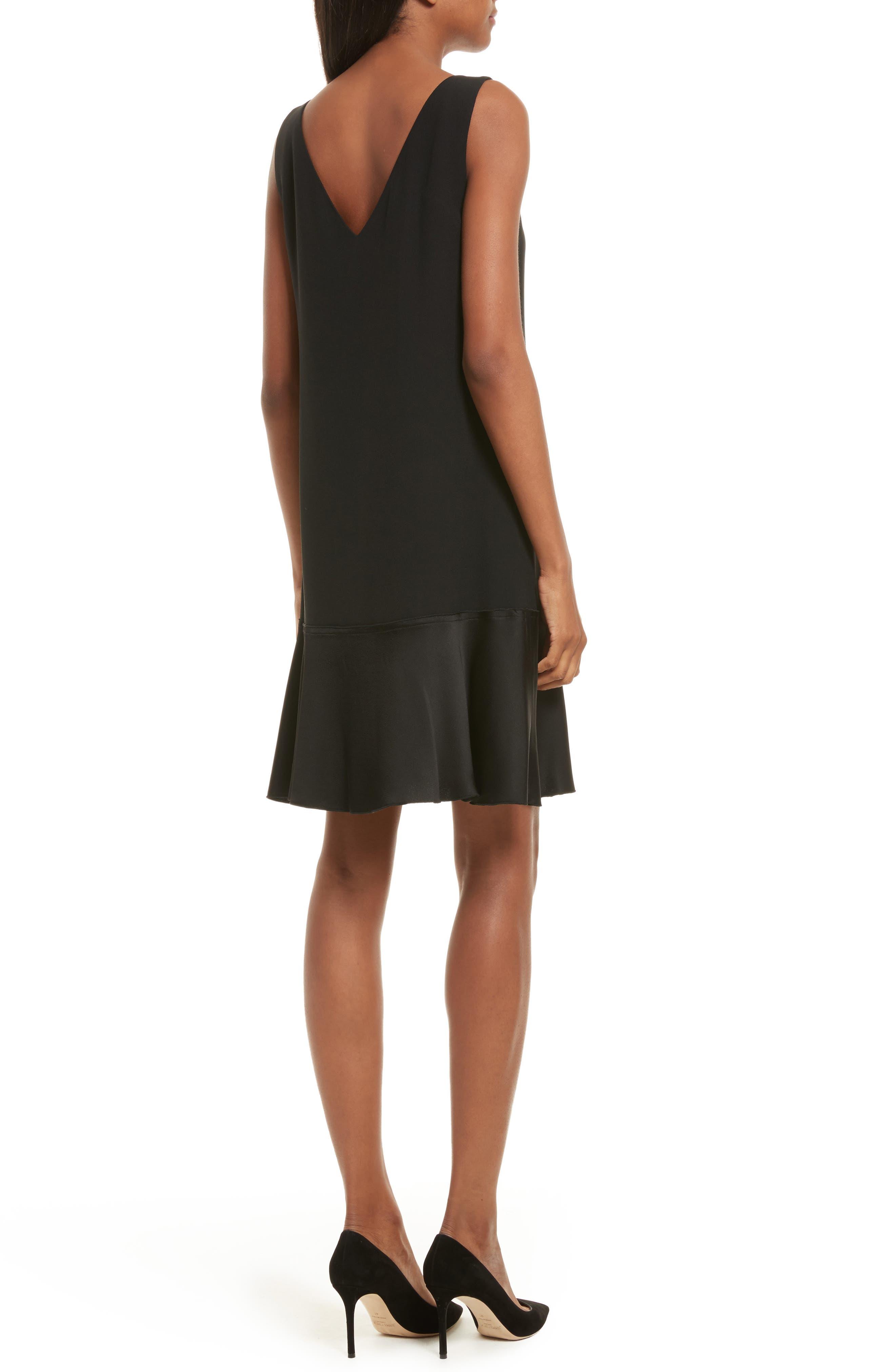 Kensington Flirty Flare Dress,                             Alternate thumbnail 2, color,                             Black