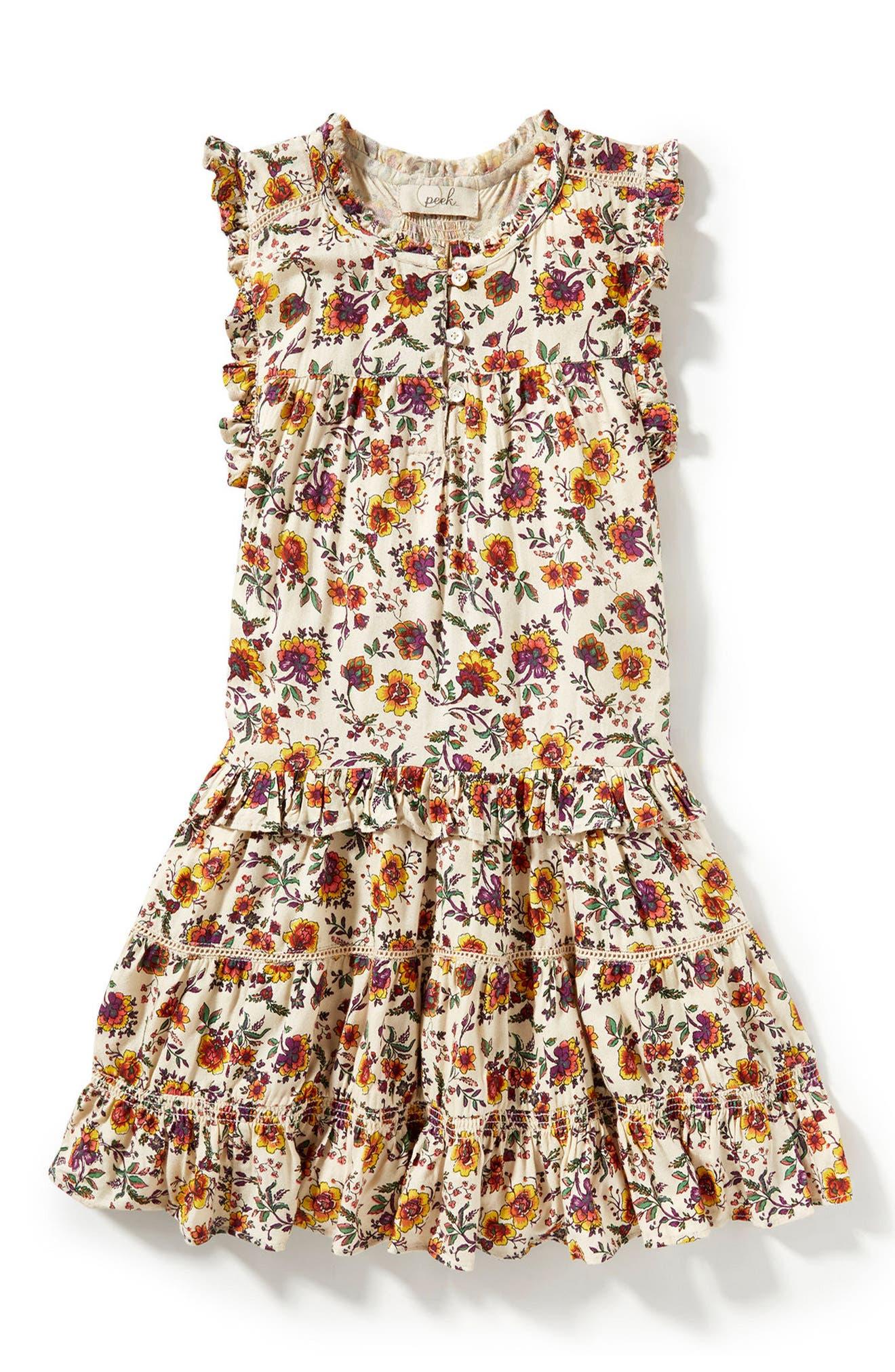 Main Image - Peek Natalie Print Dress (Toddler Girls, Little Girls & Big Girls)