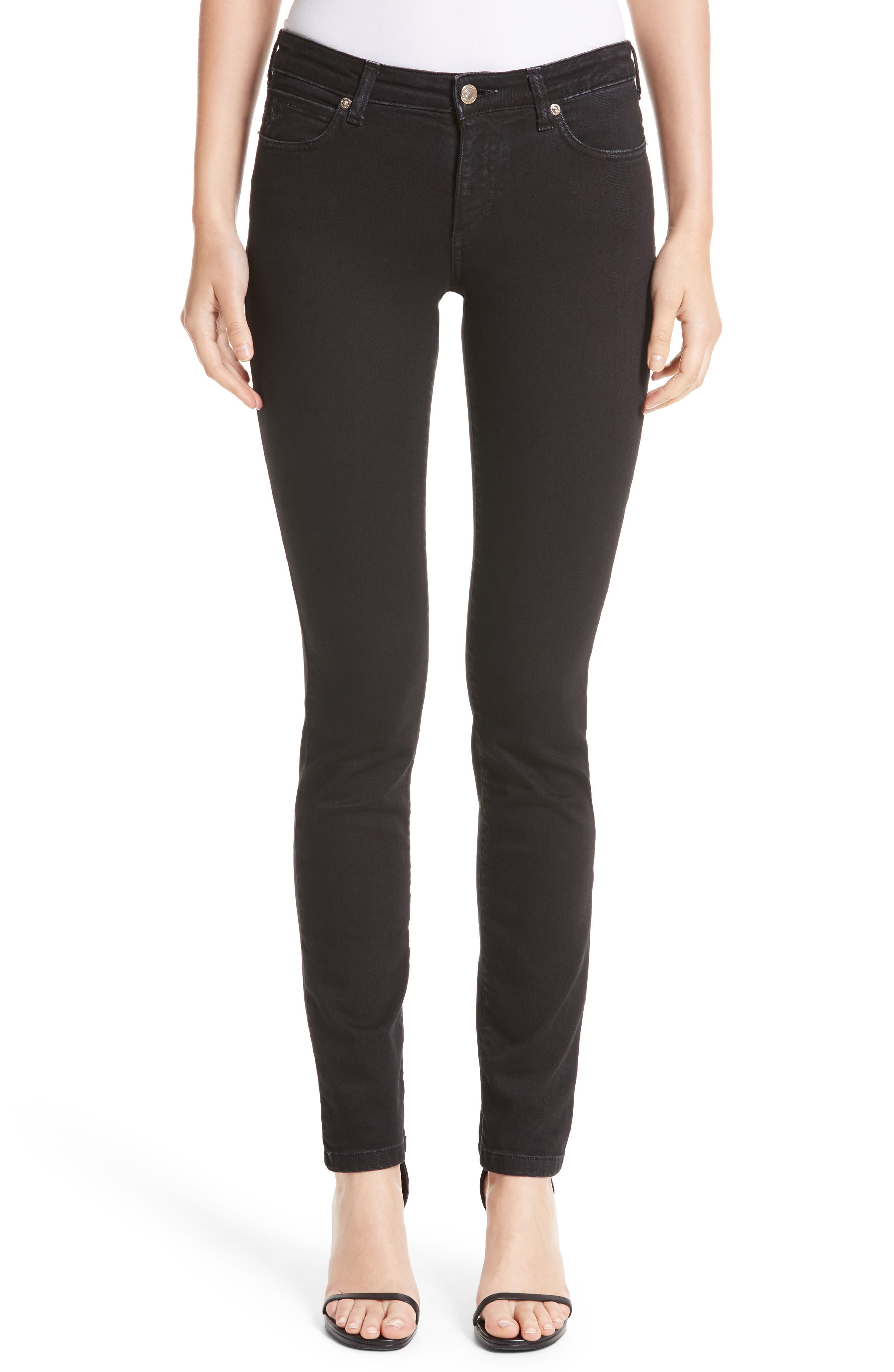Main Image - Versace Collection Embellished Pocket Skinny Jeans