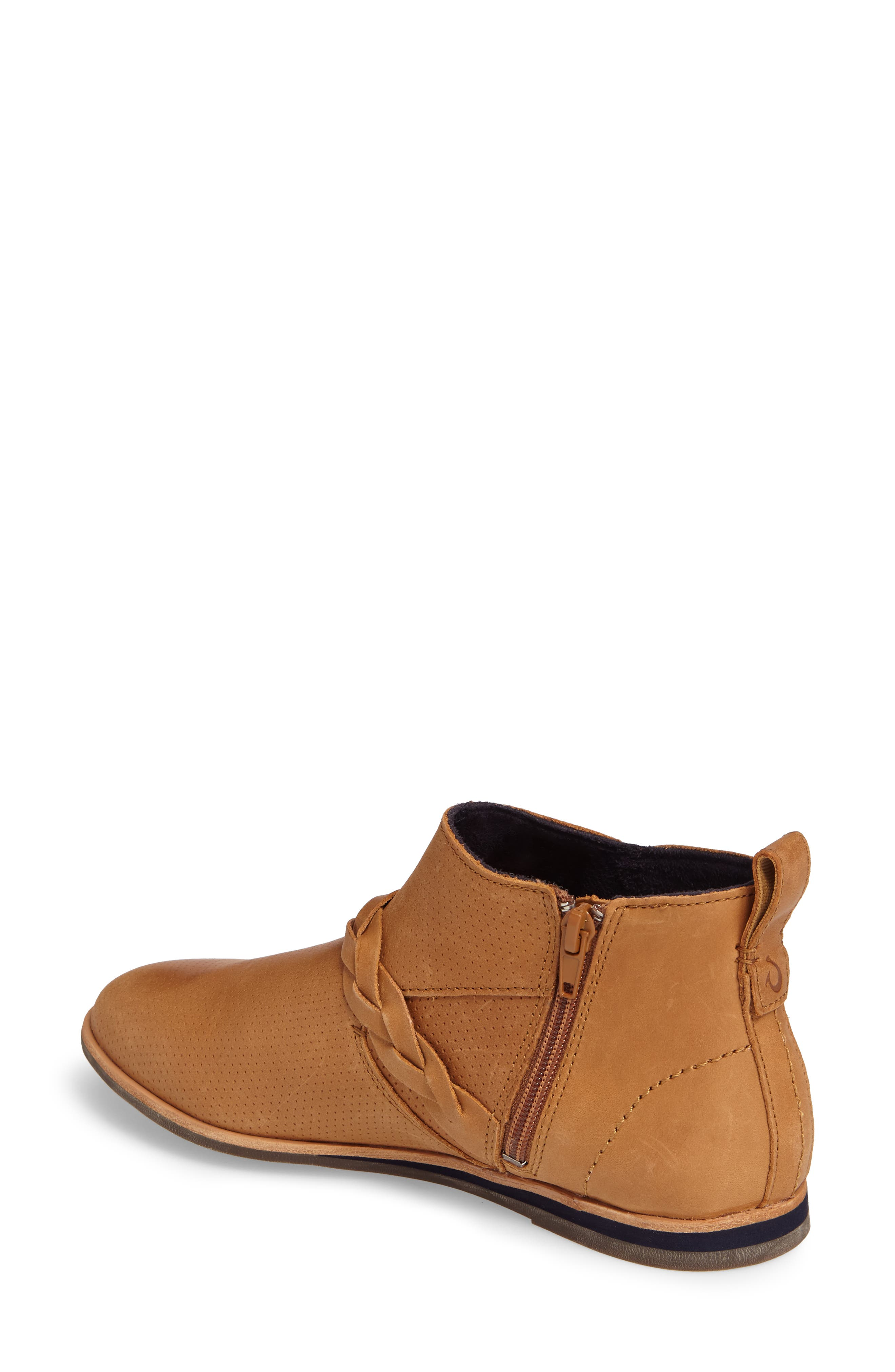 Ho'olu Perforated Bootie,                             Alternate thumbnail 2, color,                             Pecan/ Pecan Leather