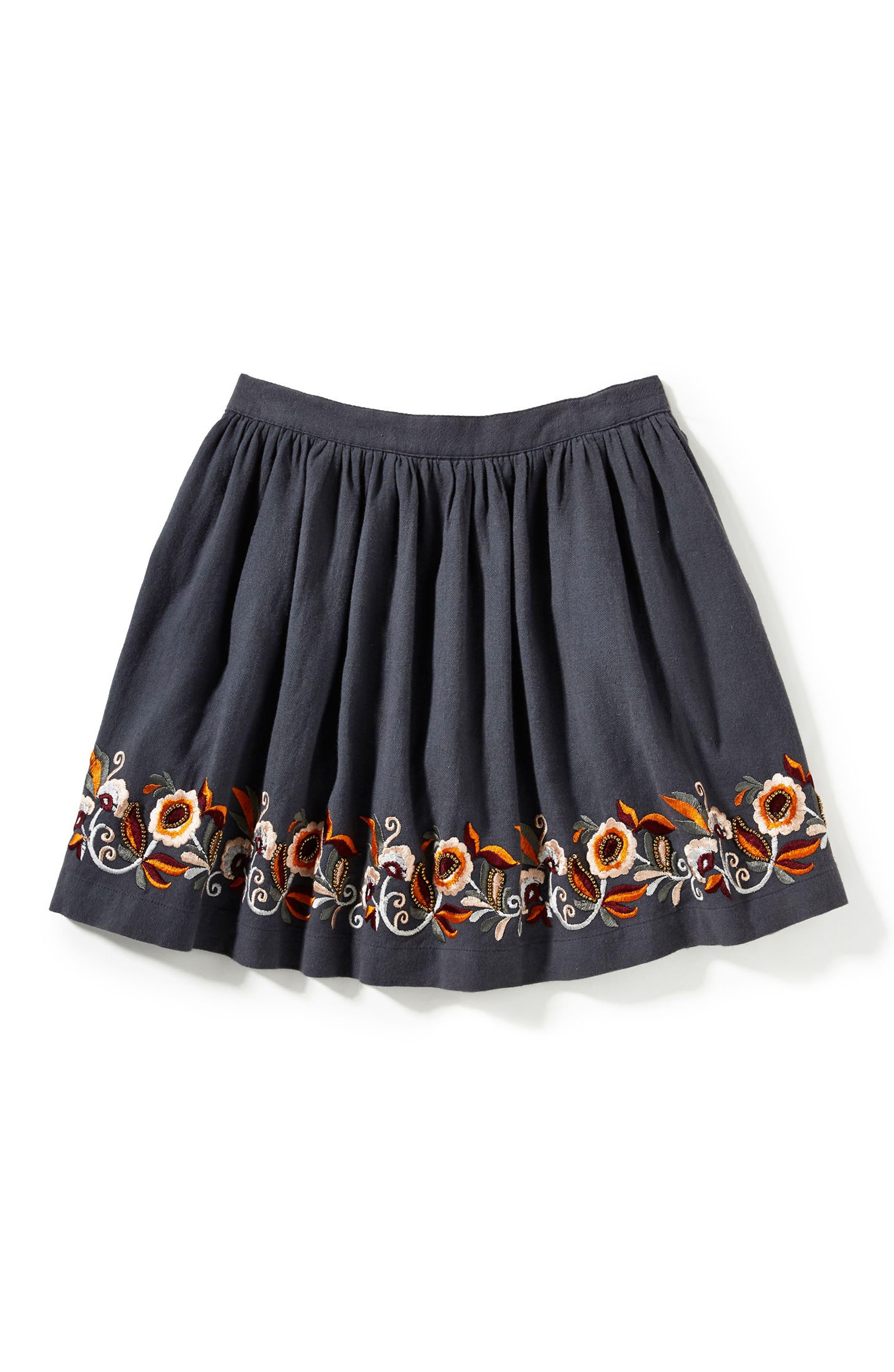 Alternate Image 1 Selected - Peek Claire Embroidered Skirt (Toddler Girls, Little Girls & Big Girls)