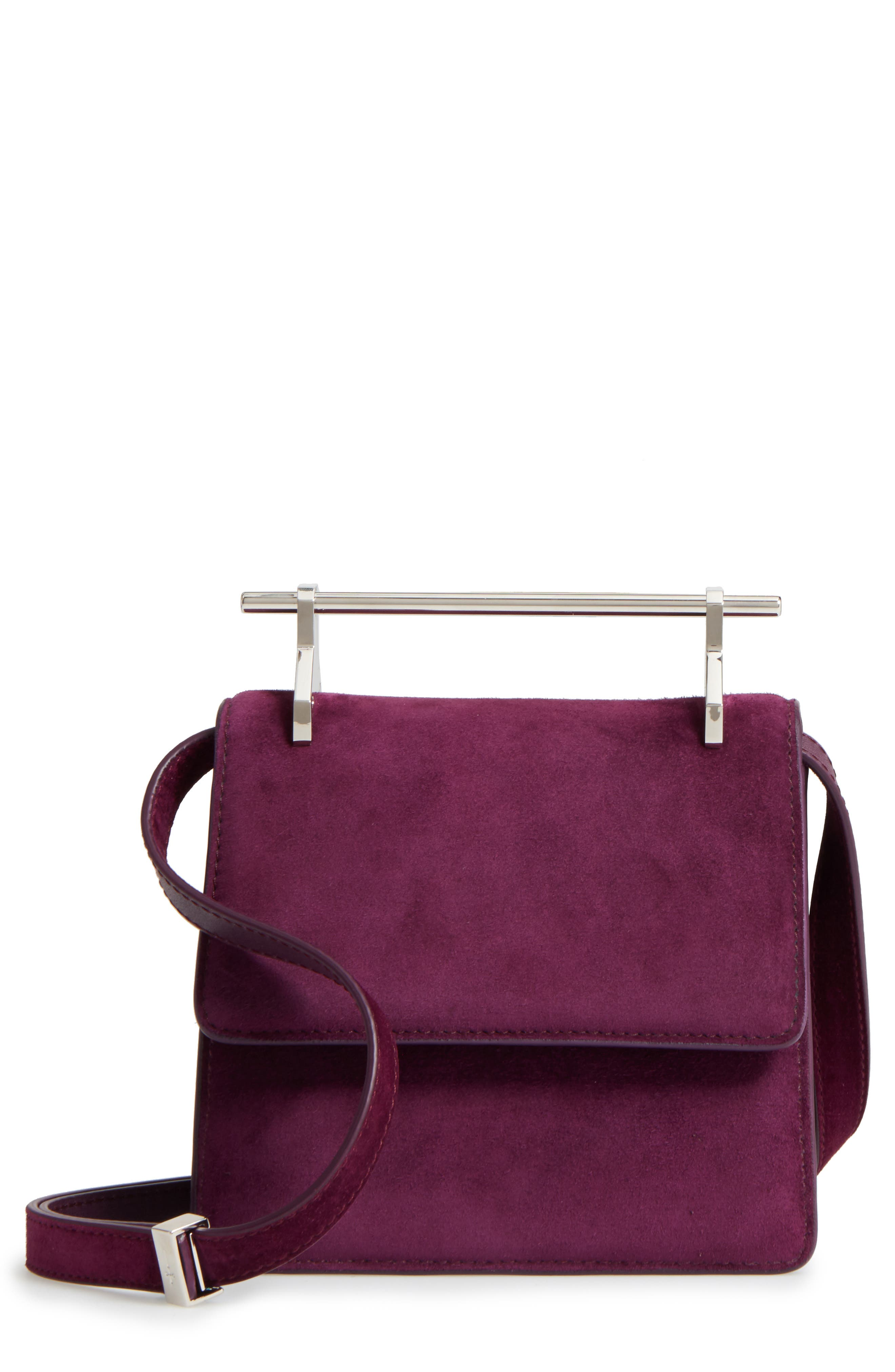 M2Malletier Mini La Collectionneuse Suede Crossbody Bag