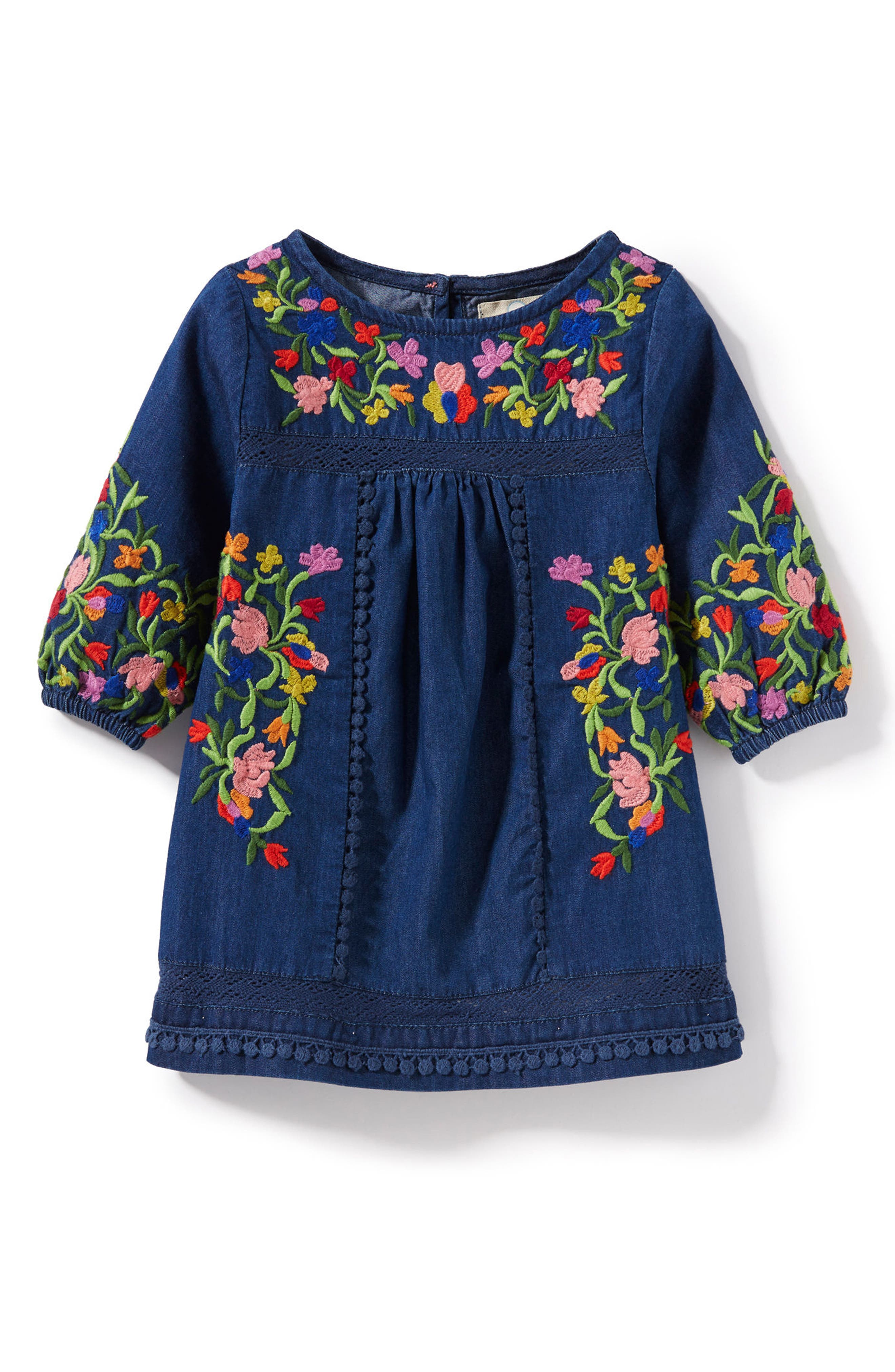 Peek Marin Embroidered Dress (Baby Girls)