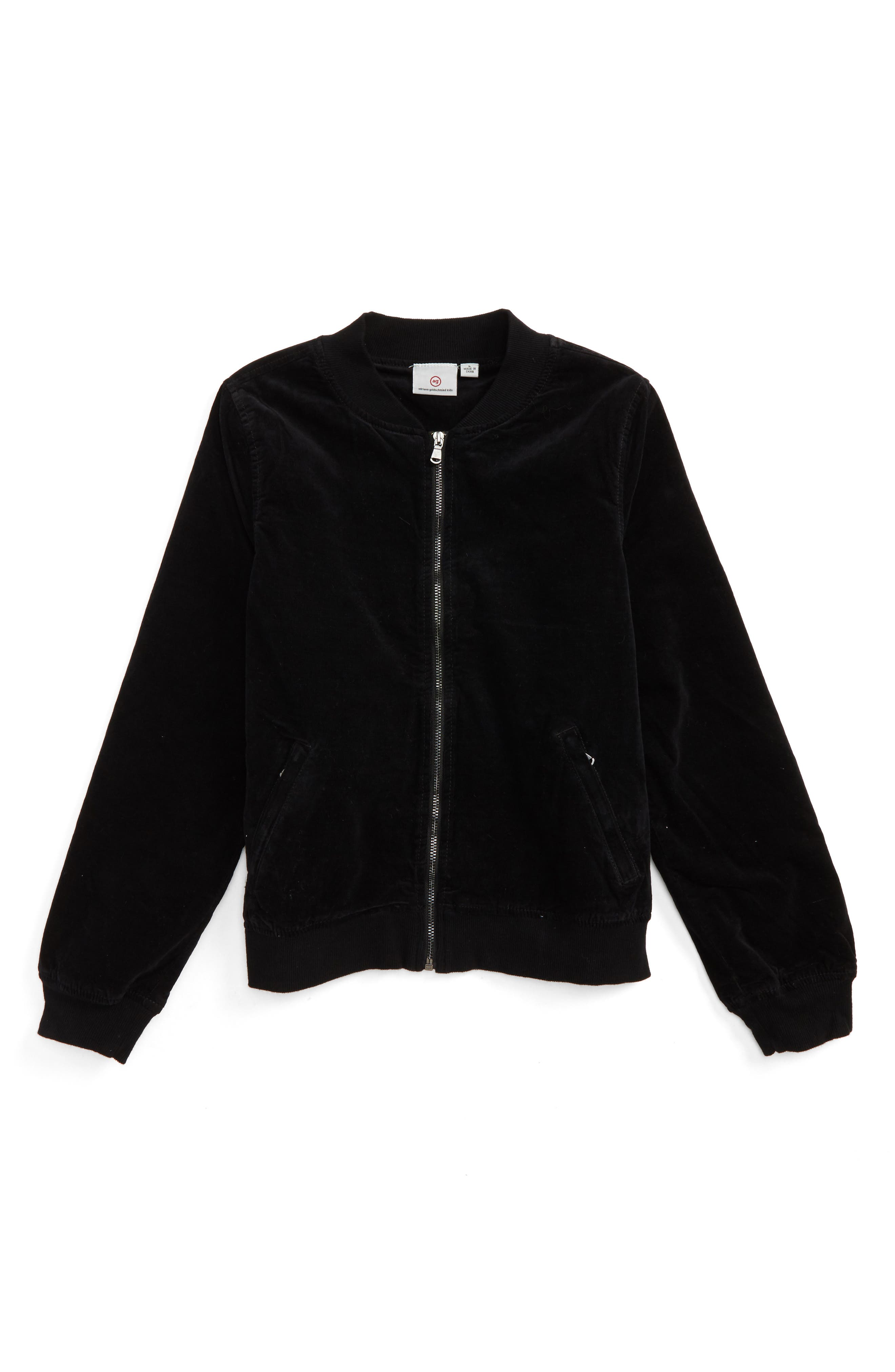 Corduroy Bomber Jacket,                             Main thumbnail 1, color,                             Black