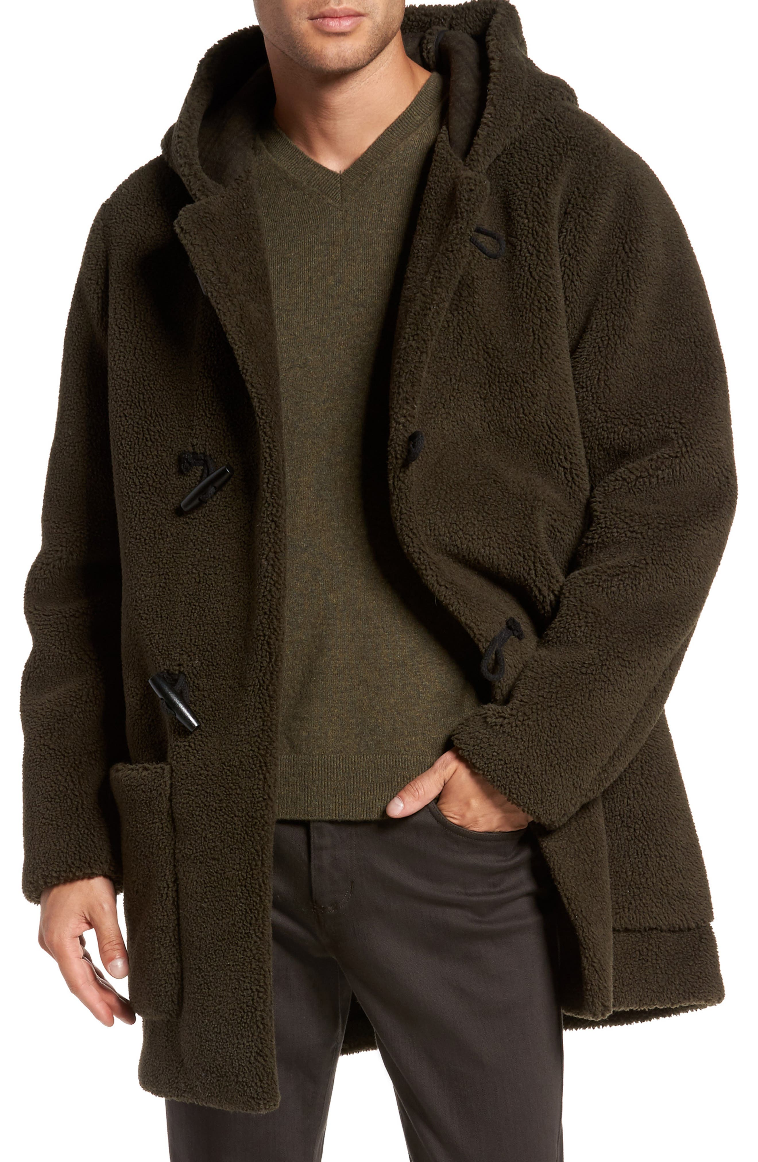 VINCE Fleece Toggle Coat