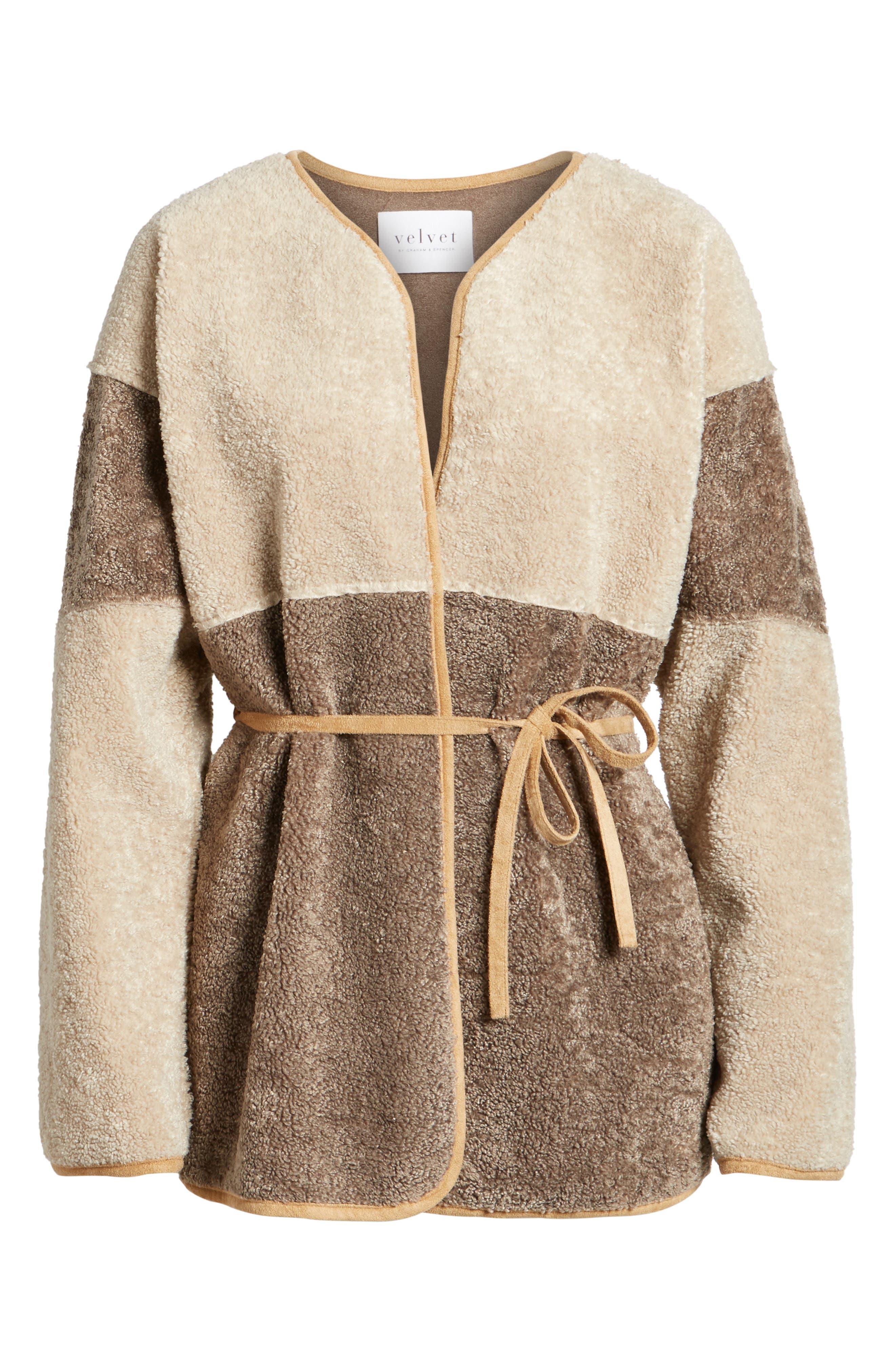Reversible Faux Shearling Jacket,                         Main,                         color, Multi