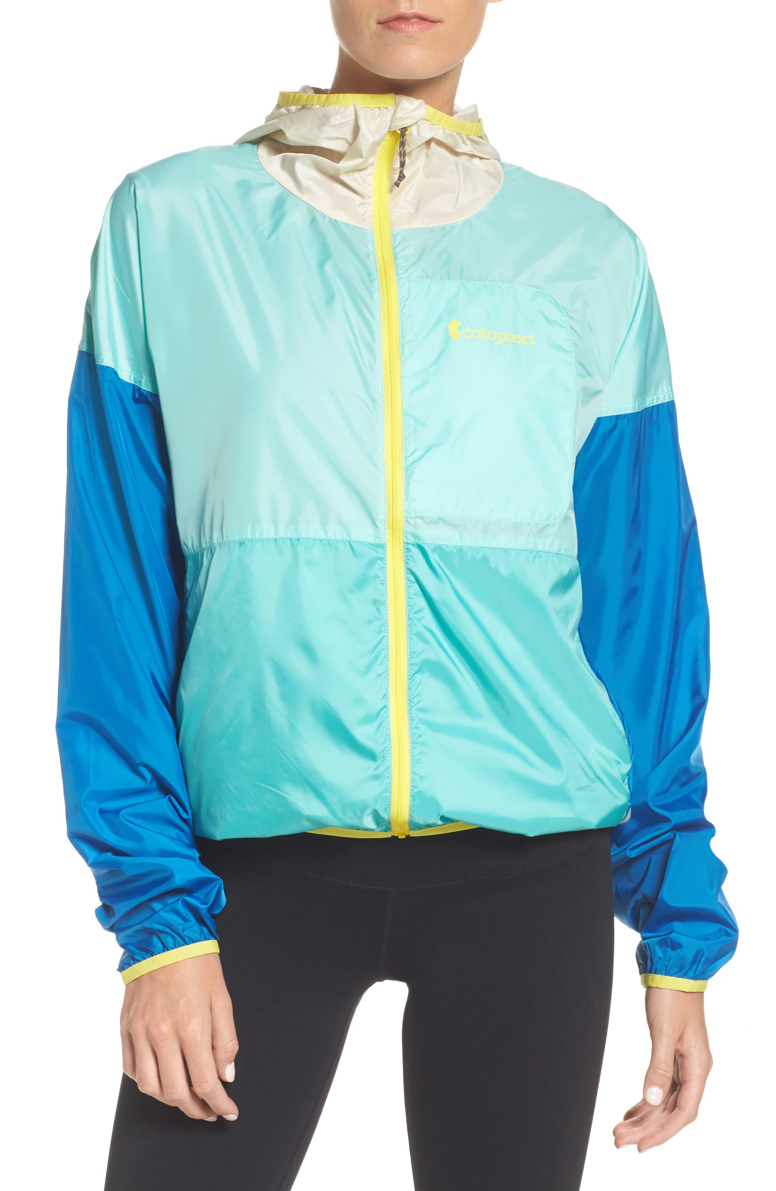 Teca Packable Water Resistant Windbreaker Jacket,                         Main,                         color, Blue Crush