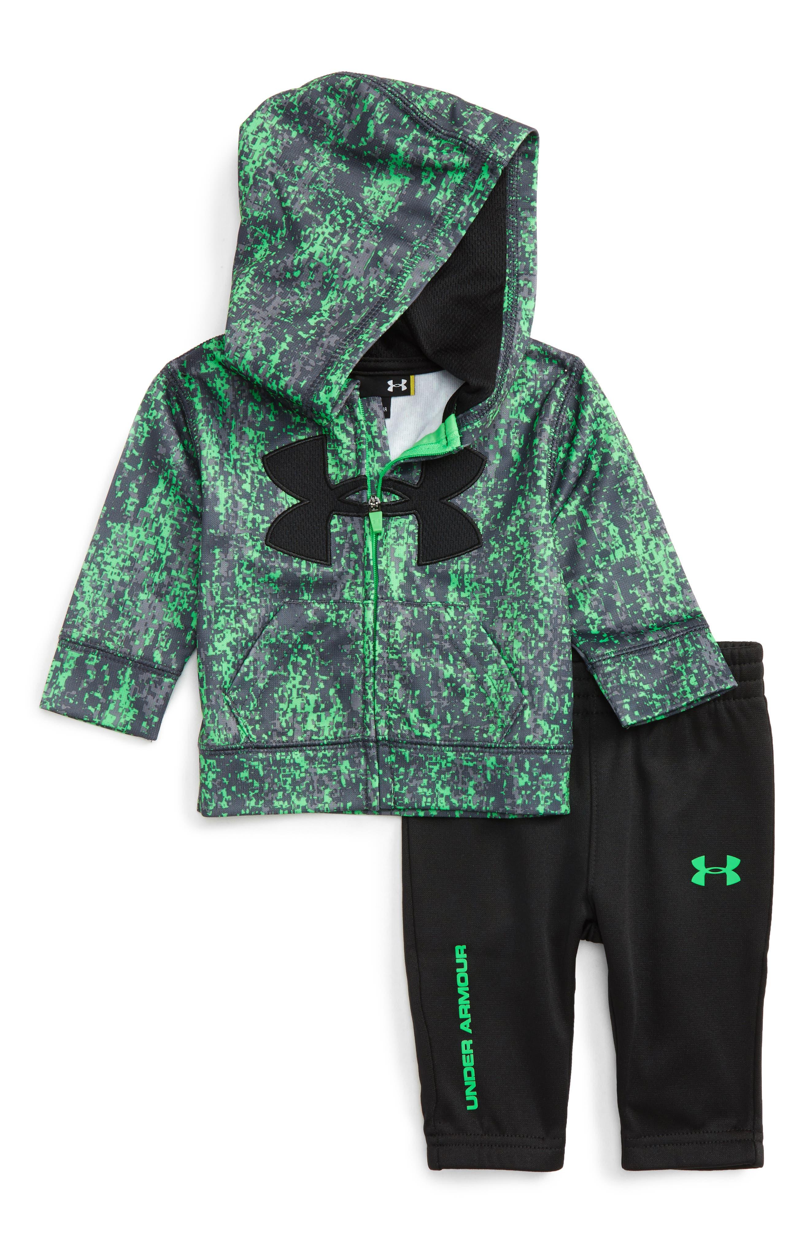 Under Armour Big Logo Zip Hoodie & Sweatpants Set (Baby Boys)