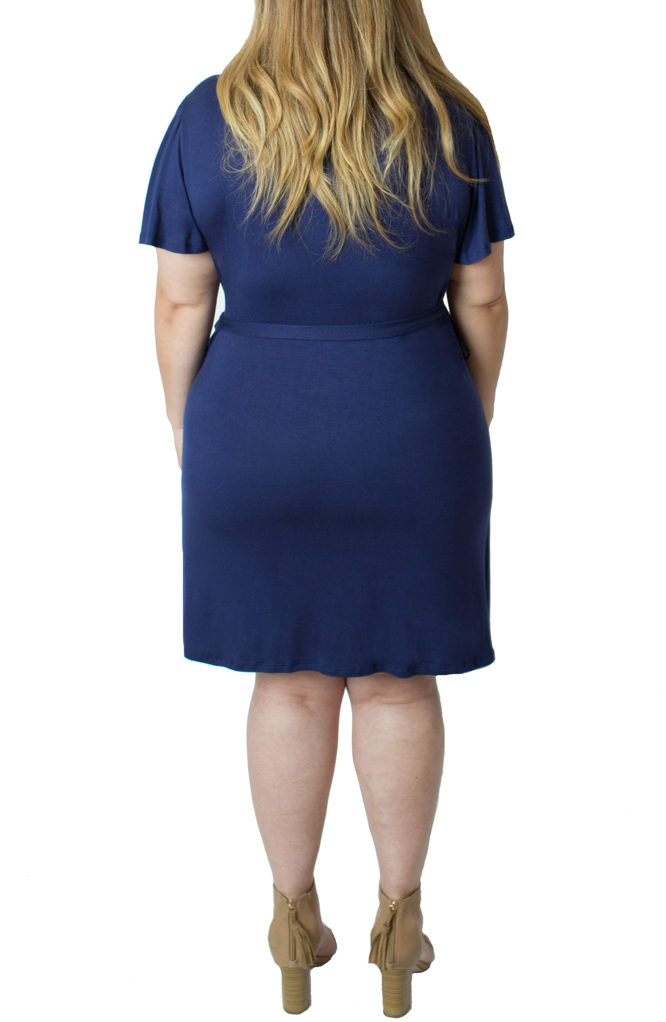Wrap Nursing Dress,                             Alternate thumbnail 2, color,                             Blue