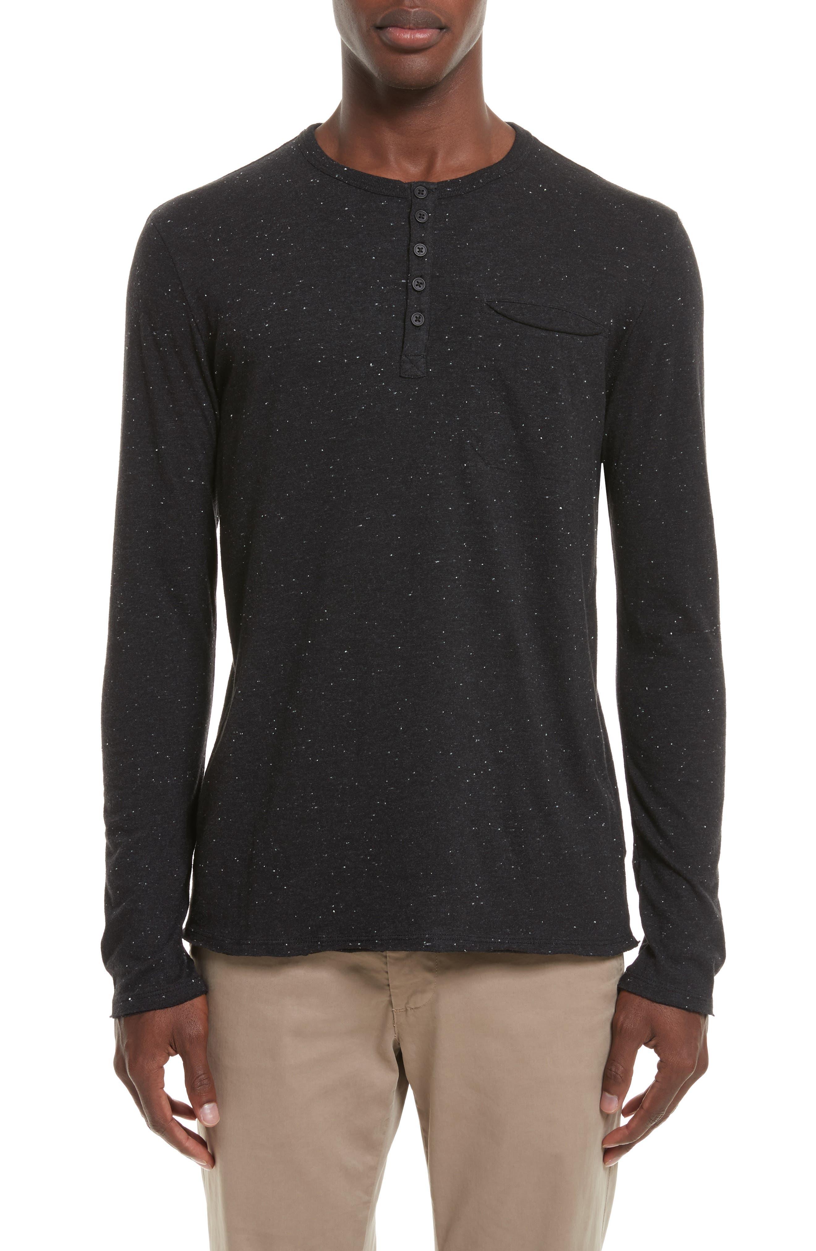 Alternate Image 1 Selected - ATM Anthony Thomas Melillo Long Sleeve Pocket Henley T-Shirt