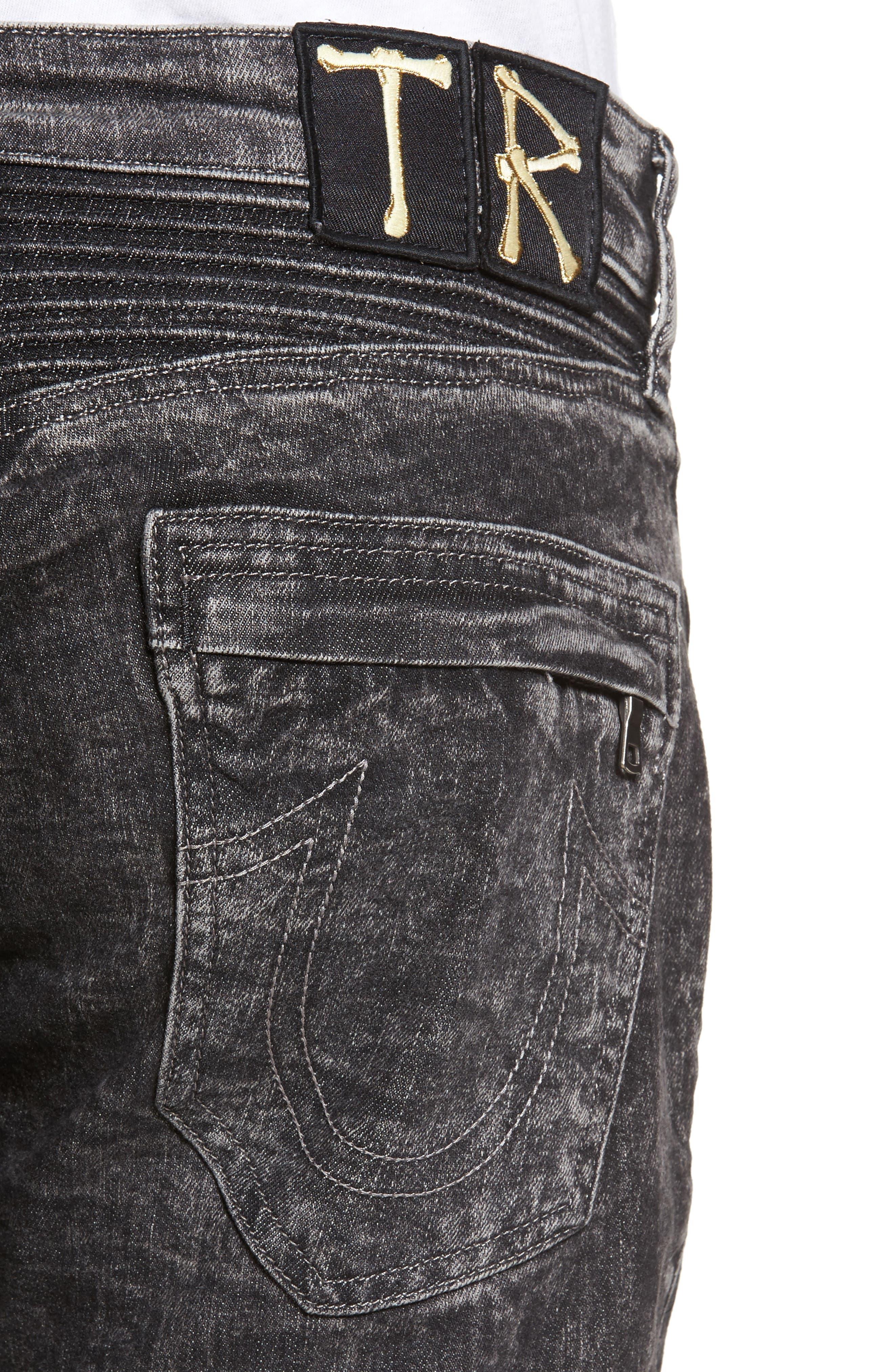Rocco Skinny Fit Jeans,                             Alternate thumbnail 4, color,                             Dark Raven