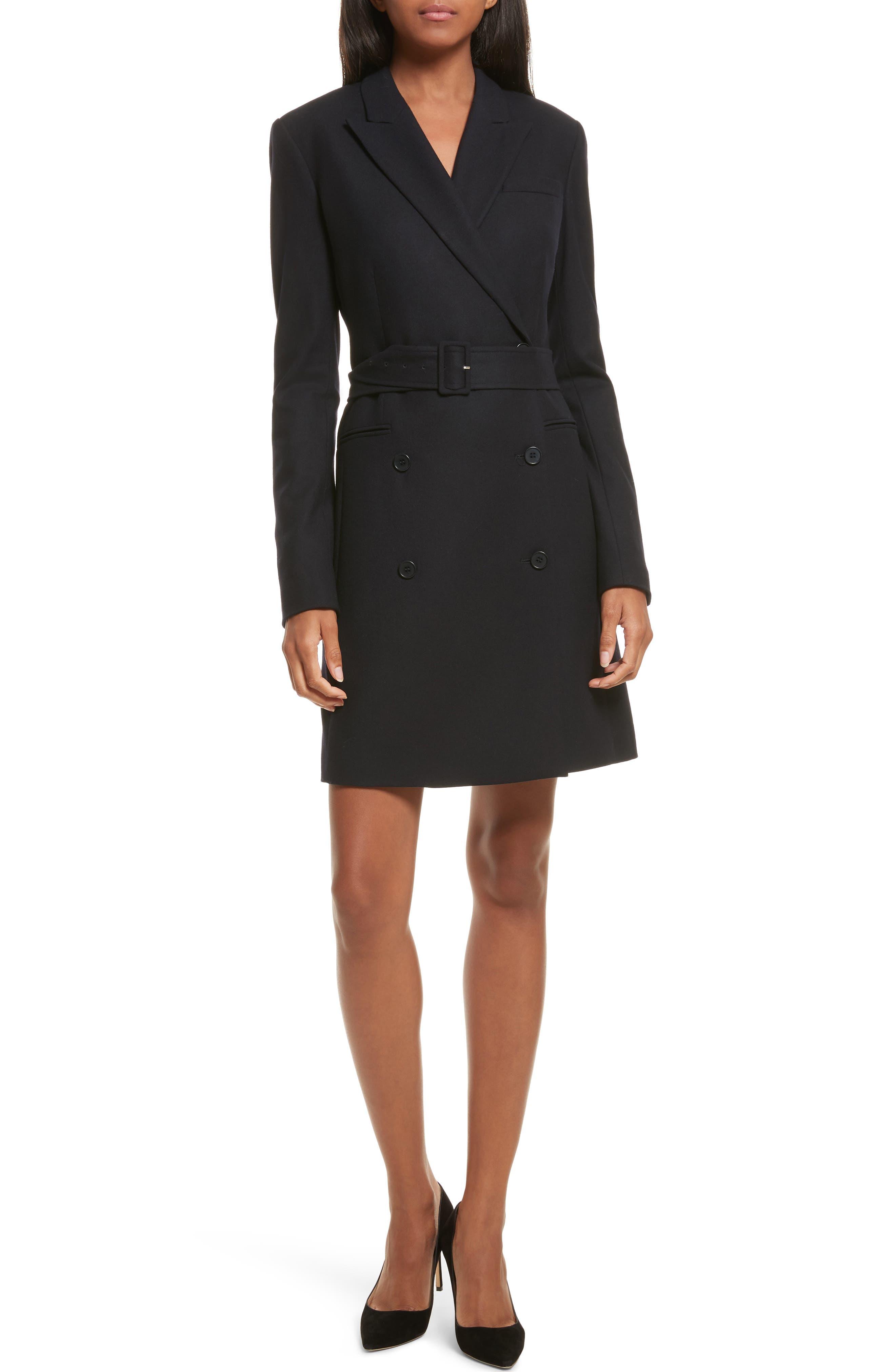 Theory Wool Blend Blazer Dress