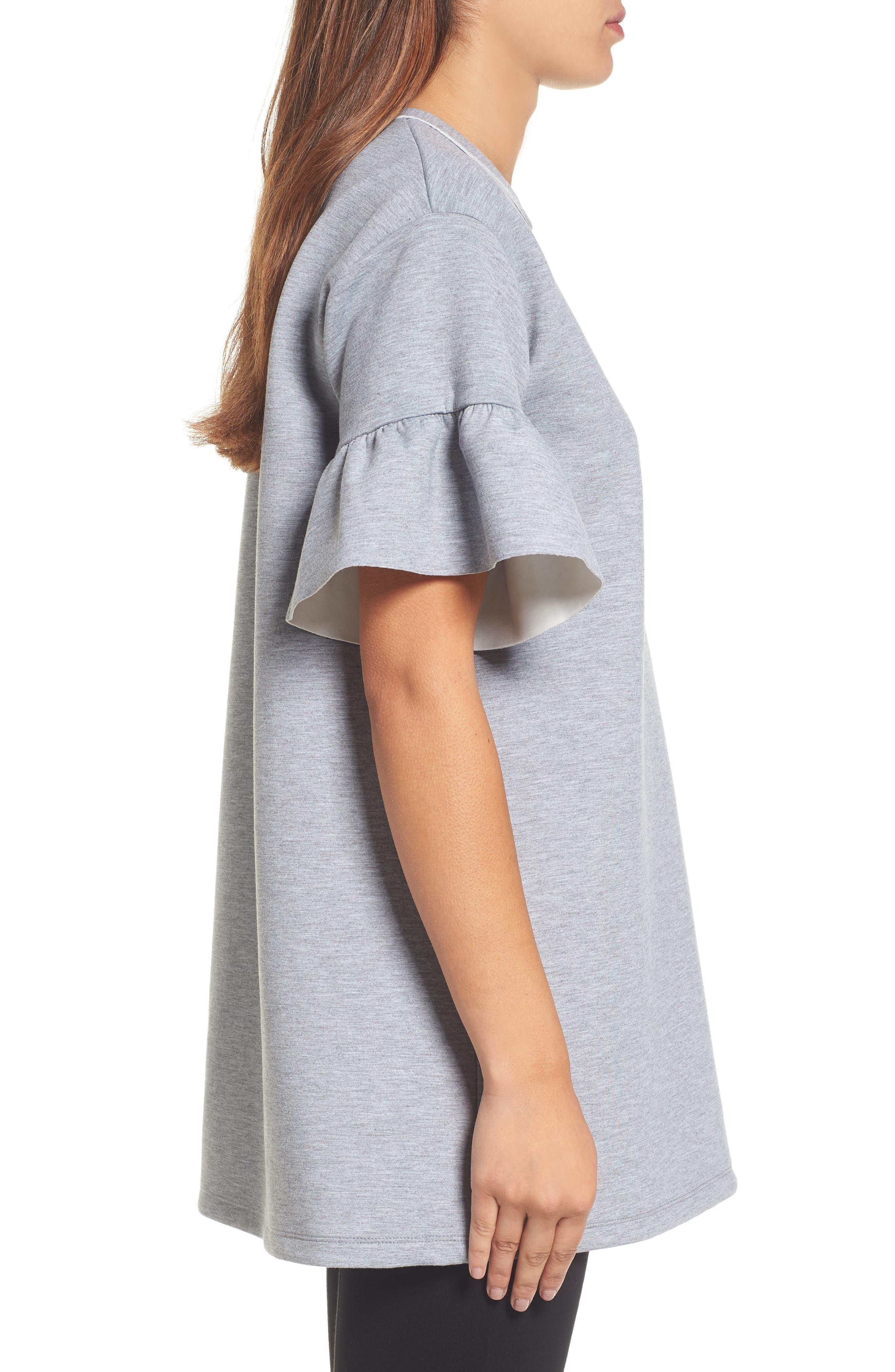 Alternate Image 4  - Halogen® Ruffle Sleeve Tunic (Regular & Petite)