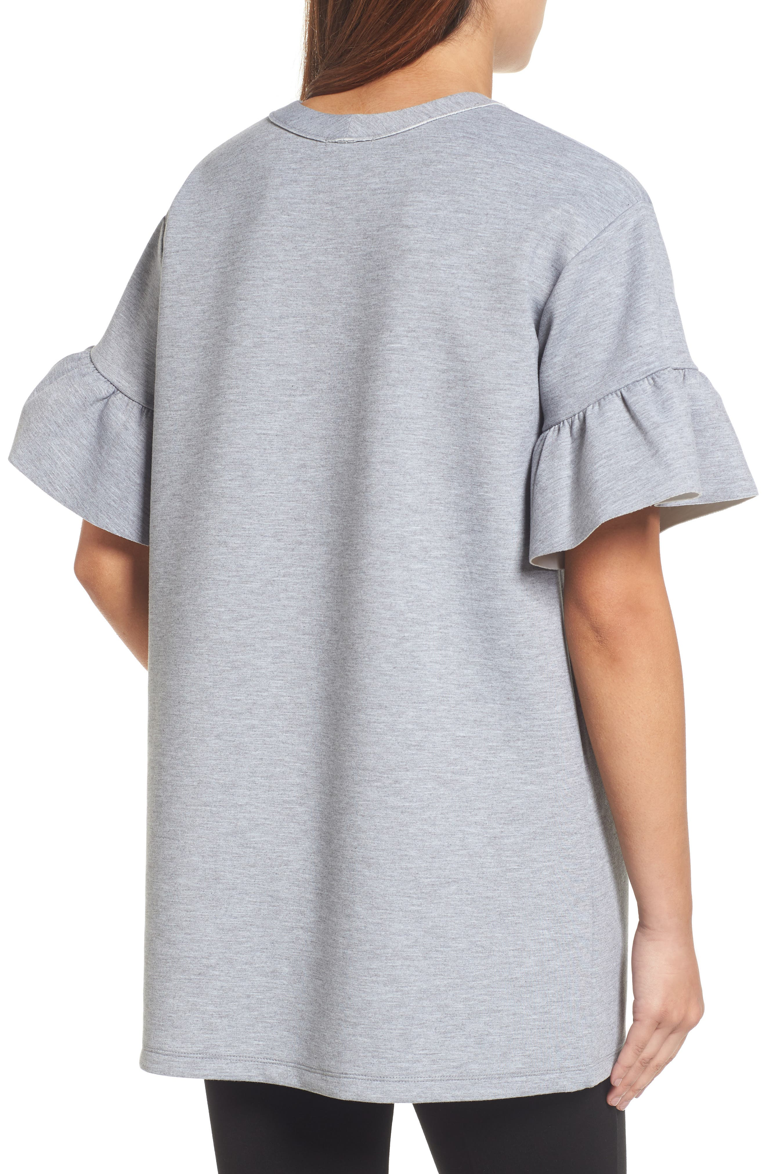 Alternate Image 3  - Halogen® Ruffle Sleeve Tunic (Regular & Petite)