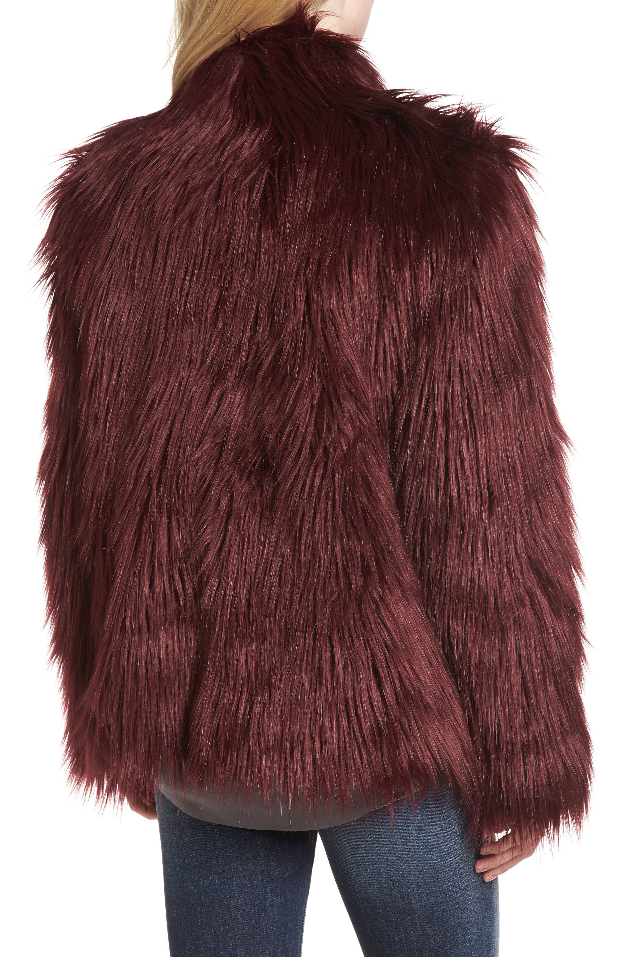 Alternate Image 2  - Chelsea28 Faux Fur Jacket