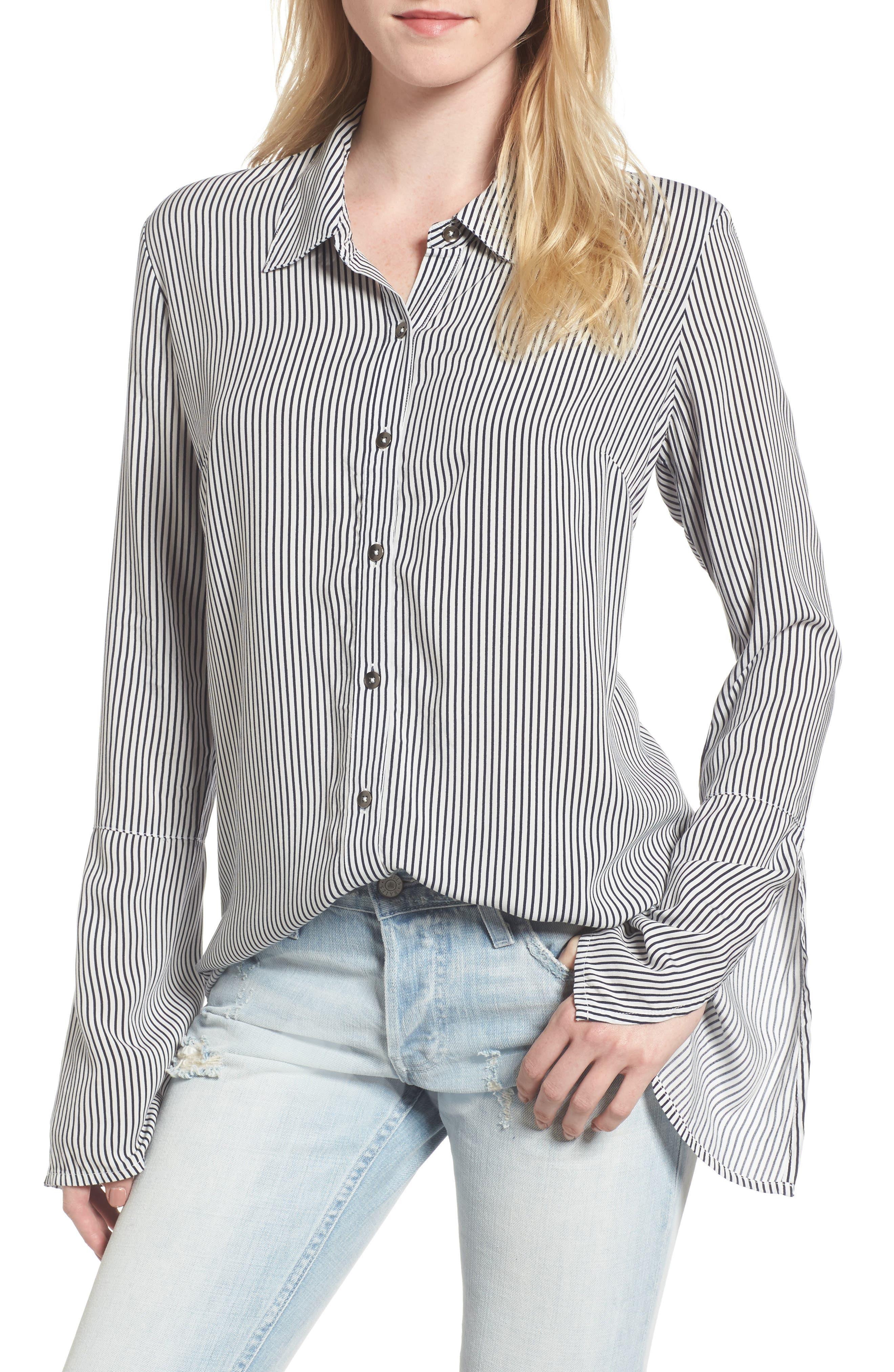Splendid Bell Sleeve Button Down Shirt