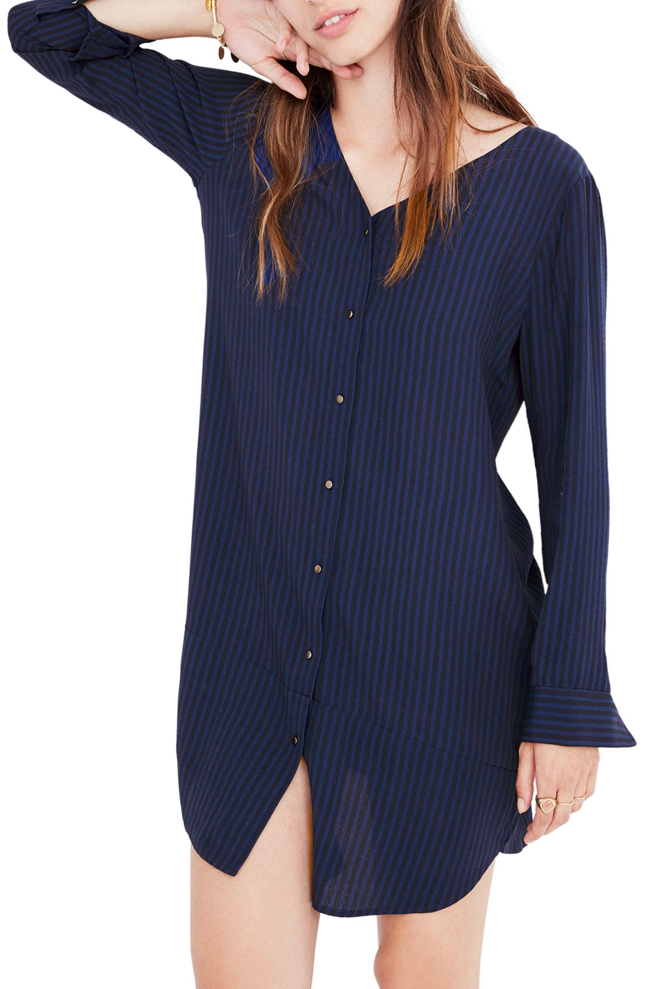 Main Image - Madewell Autumn Stripe Shift Dress