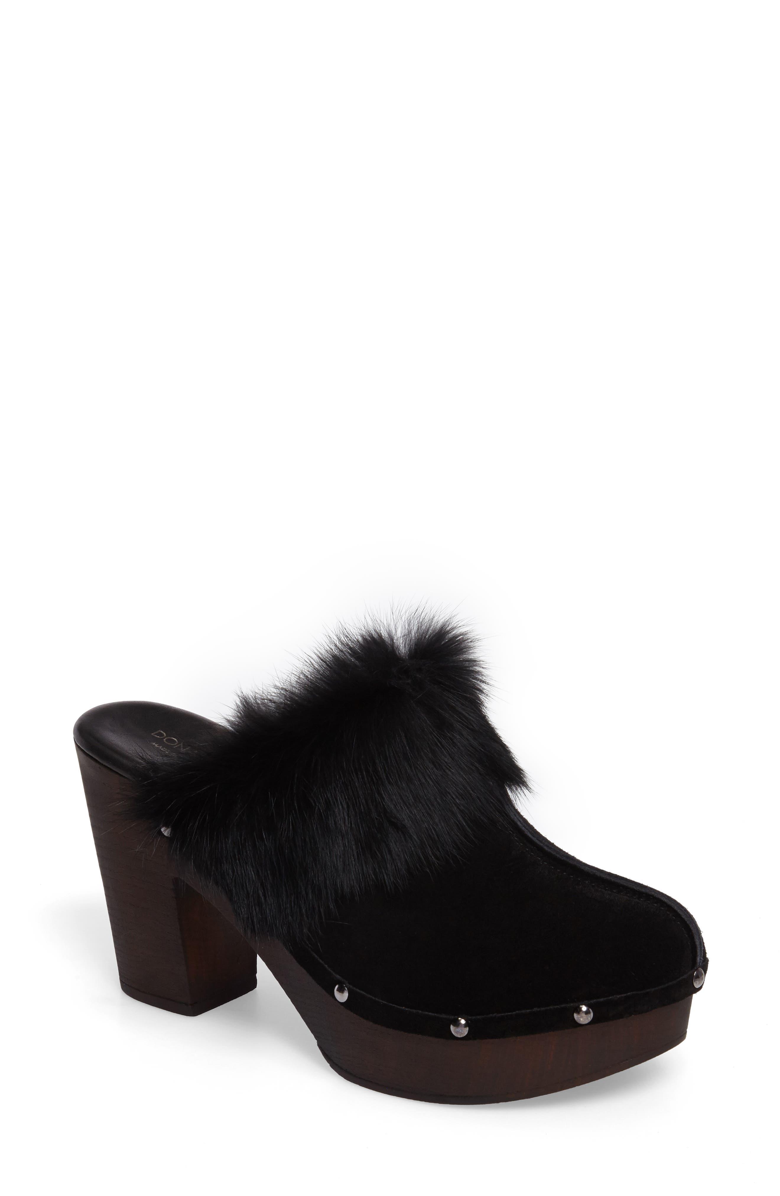 Main Image - Donald J Pliner Willo Genuine Rabbit Fur Mule (Women)