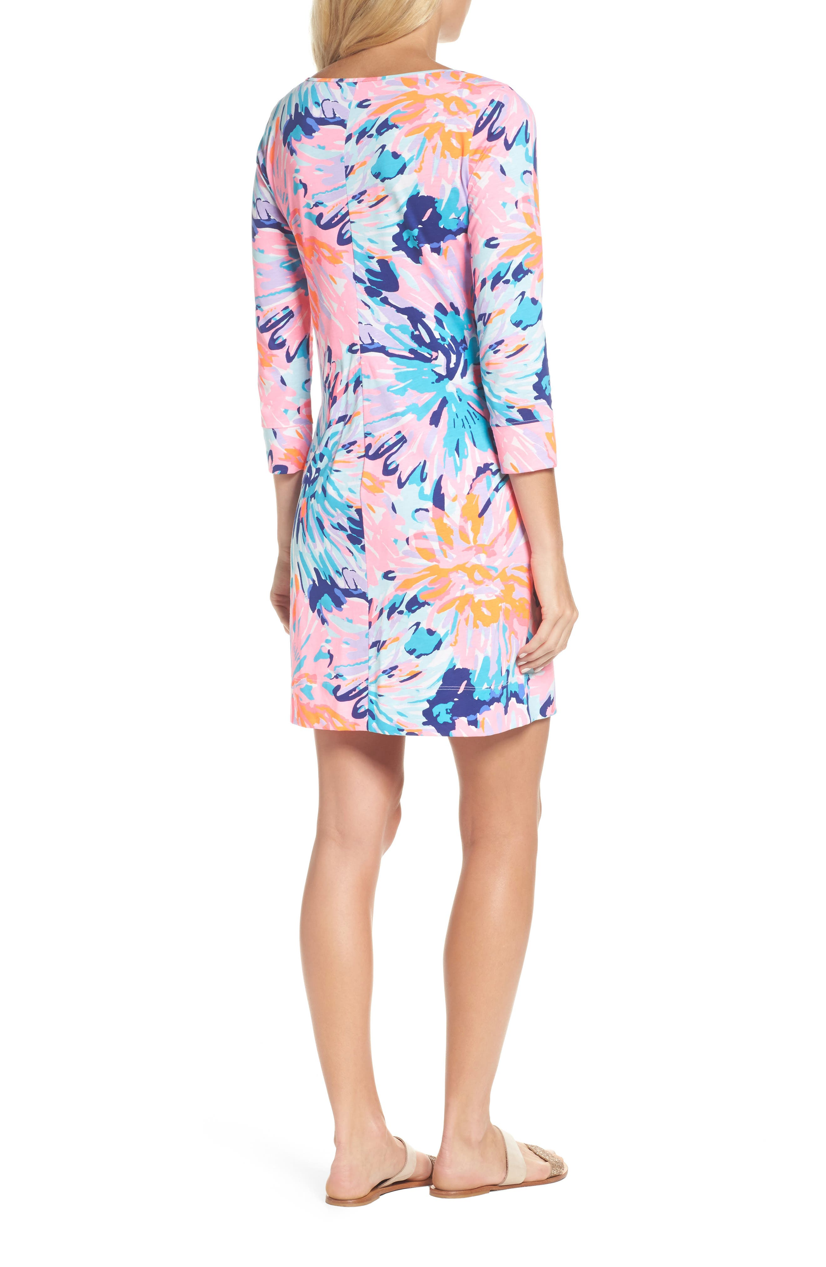 Marlowe T-Shirt Dress,                             Alternate thumbnail 2, color,                             Multi Off Tropic