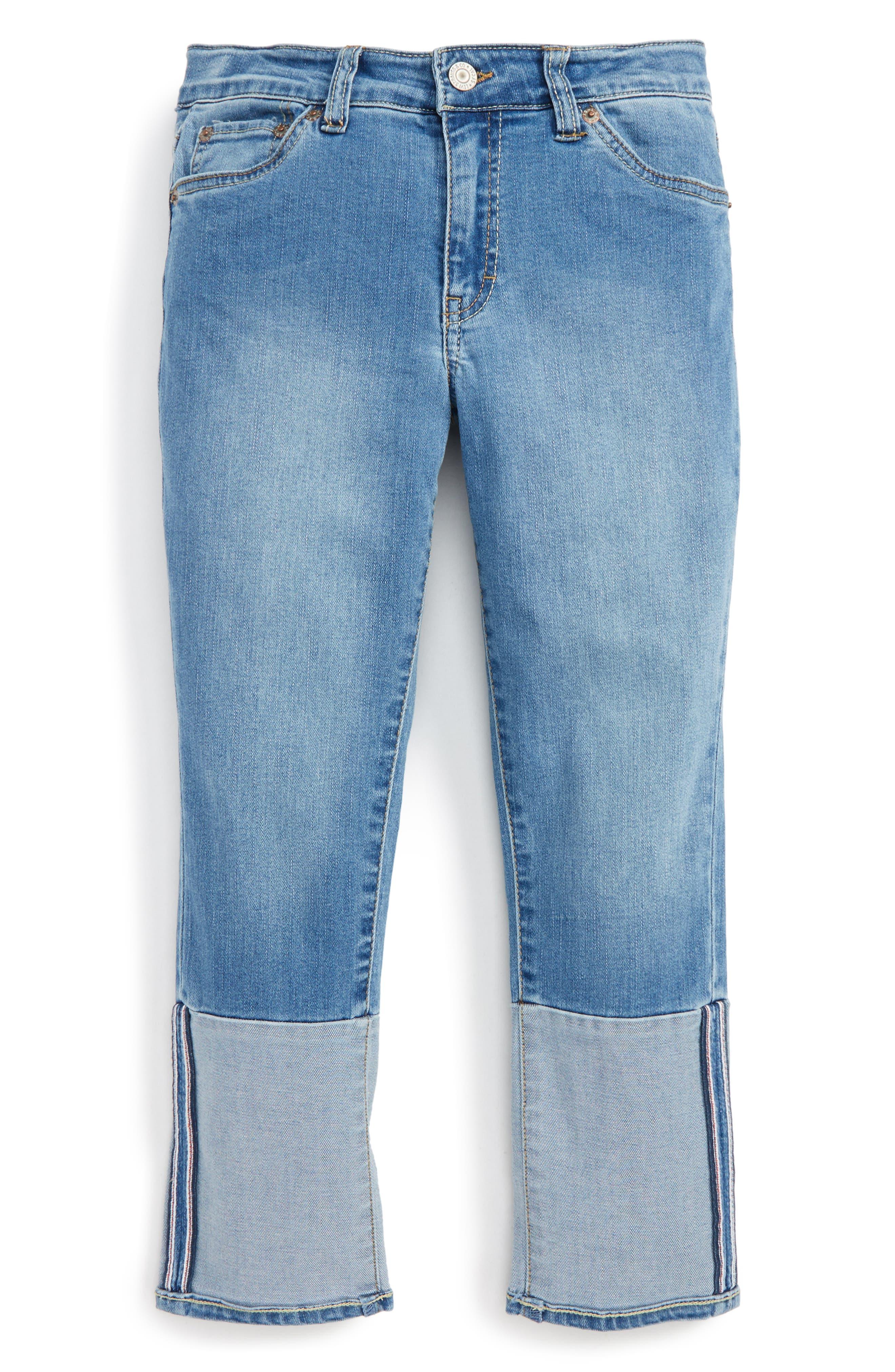Crop Girlfriend Jeans,                         Main,                         color, Nirvana