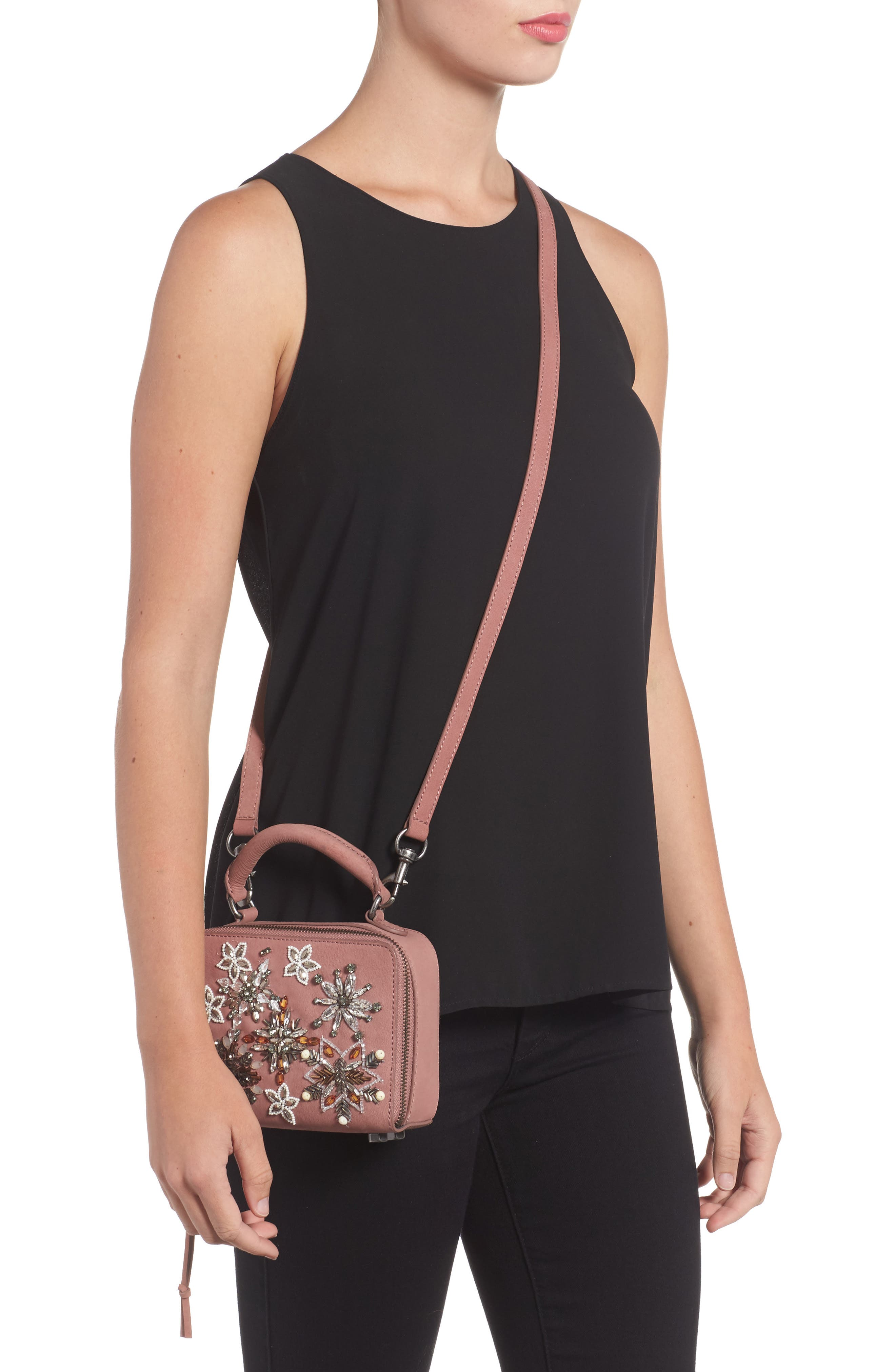 Alternate Image 2  - Rebecca Minkoff Embellished Box Leather Crossbody Bag