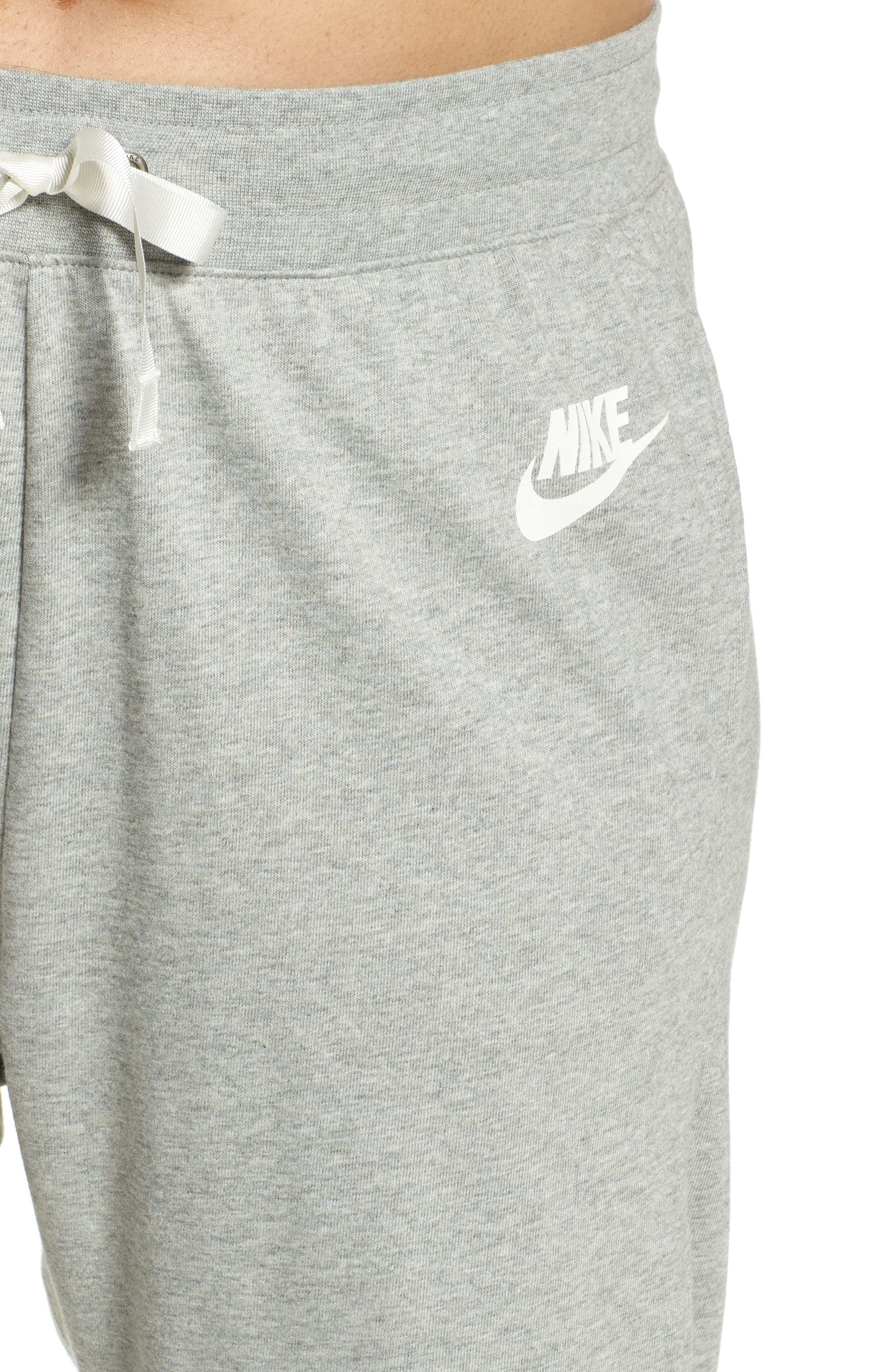 Sportswear Gym Classic Pants,                             Alternate thumbnail 4, color,                             Dk Grey Heather/ Sail