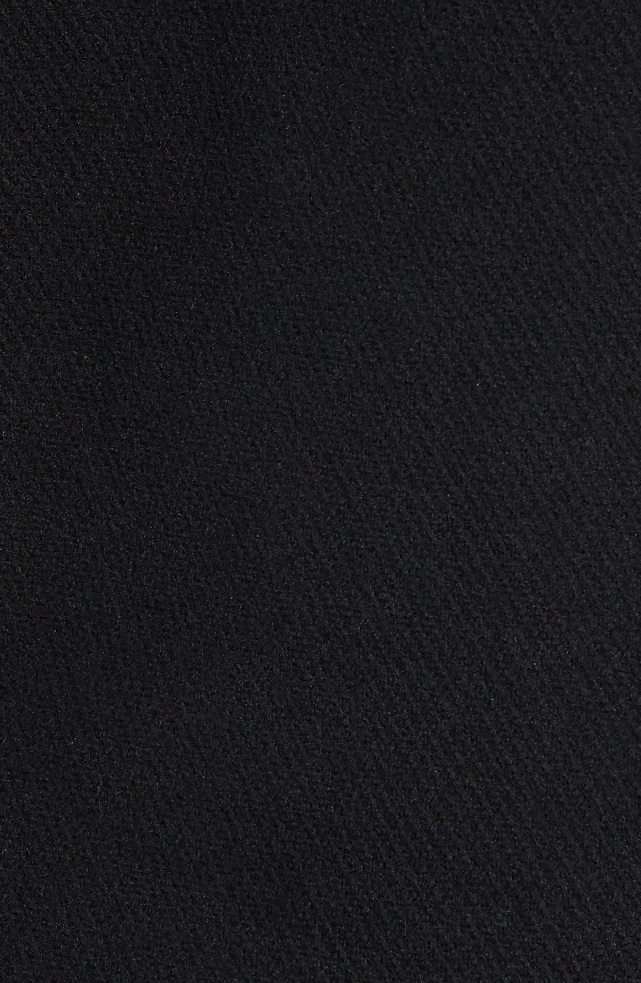 Quarter Zip Fleece Pullover,                             Alternate thumbnail 5, color,                             Black Caviar