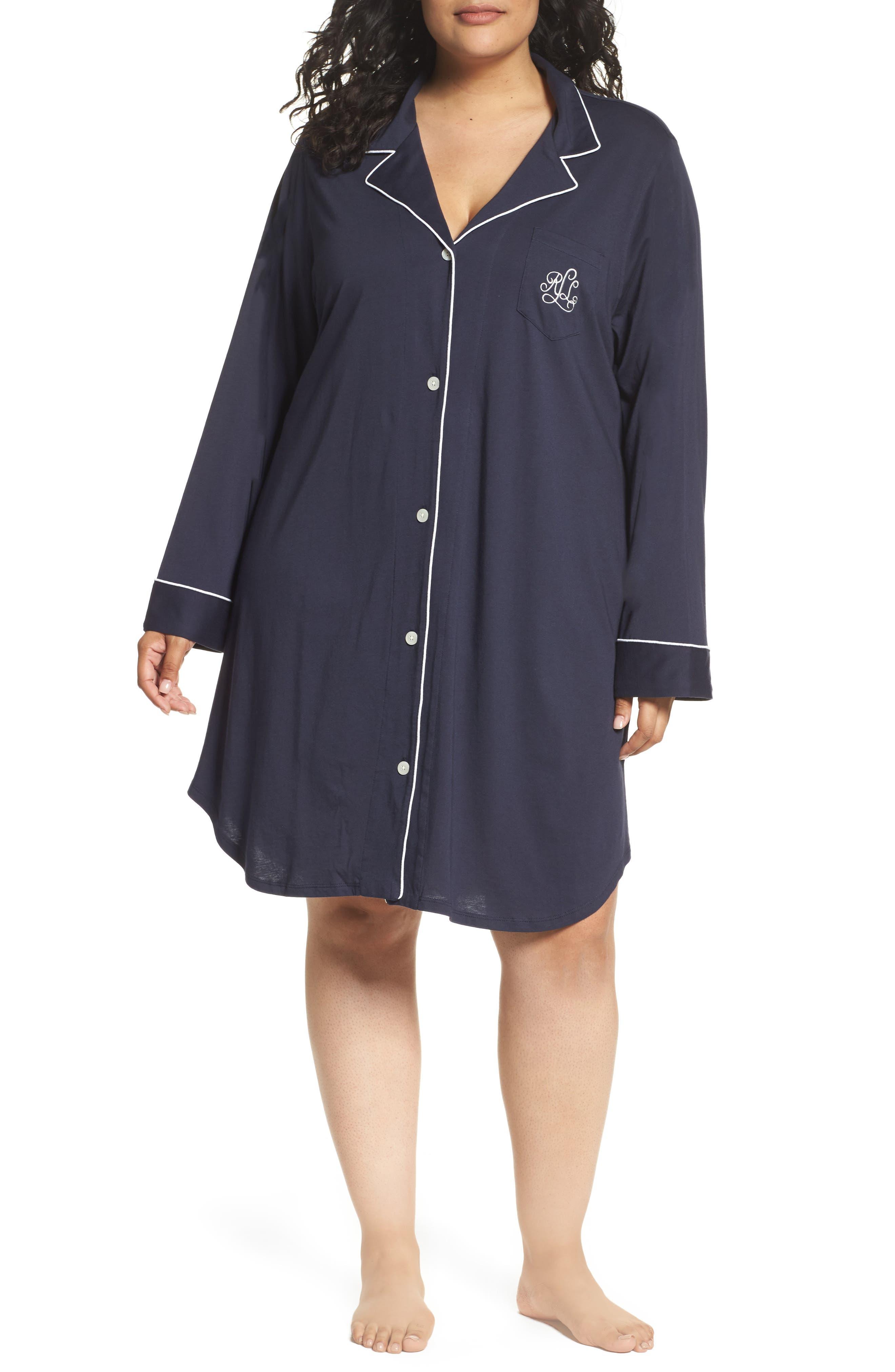 Lauren Ralph Lauren Knit Nightshirt (Plus Size) (Online Only)