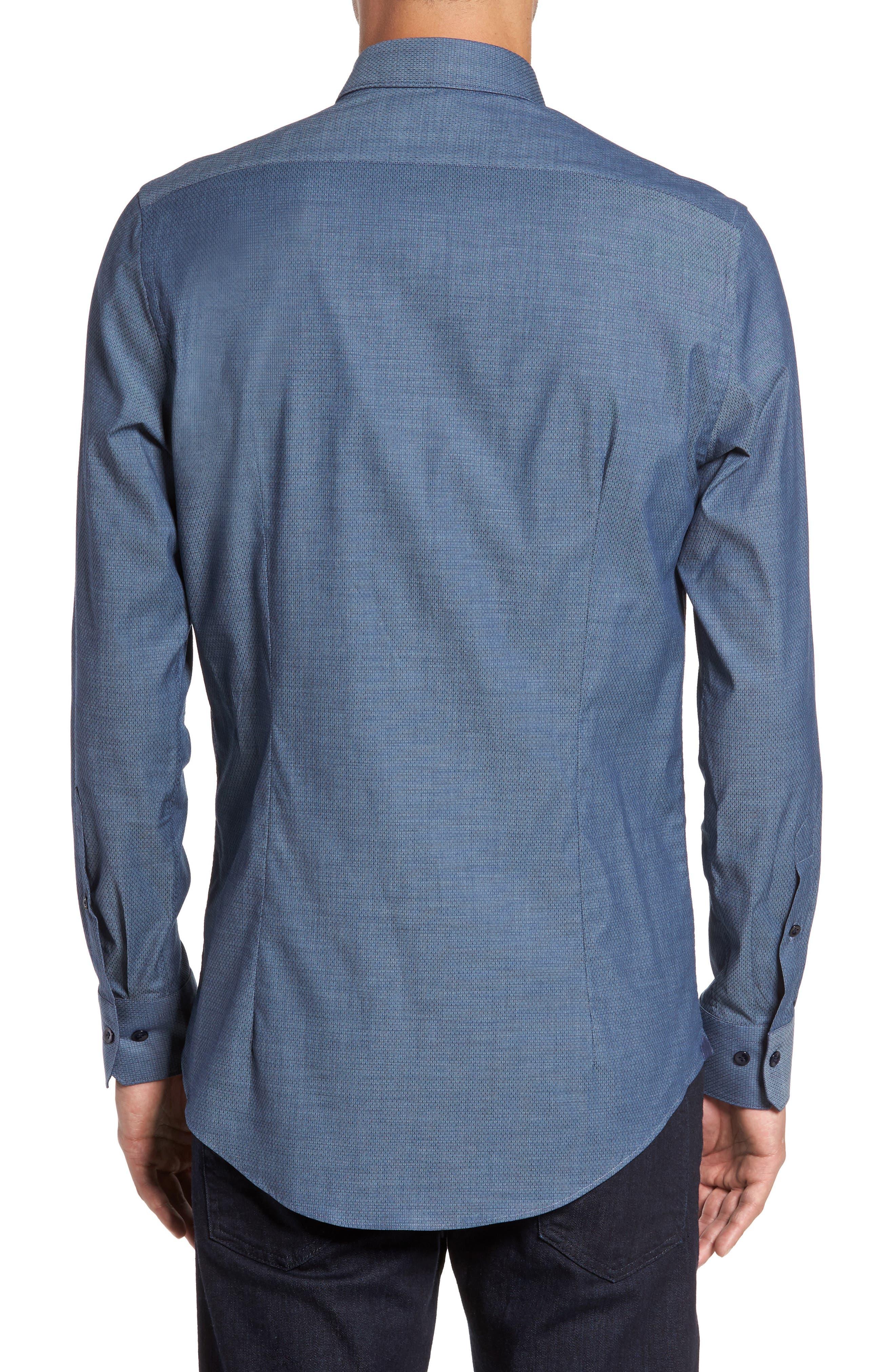 Alternate Image 2  - Pal Zileri Mini Brick Check Sport Shirt