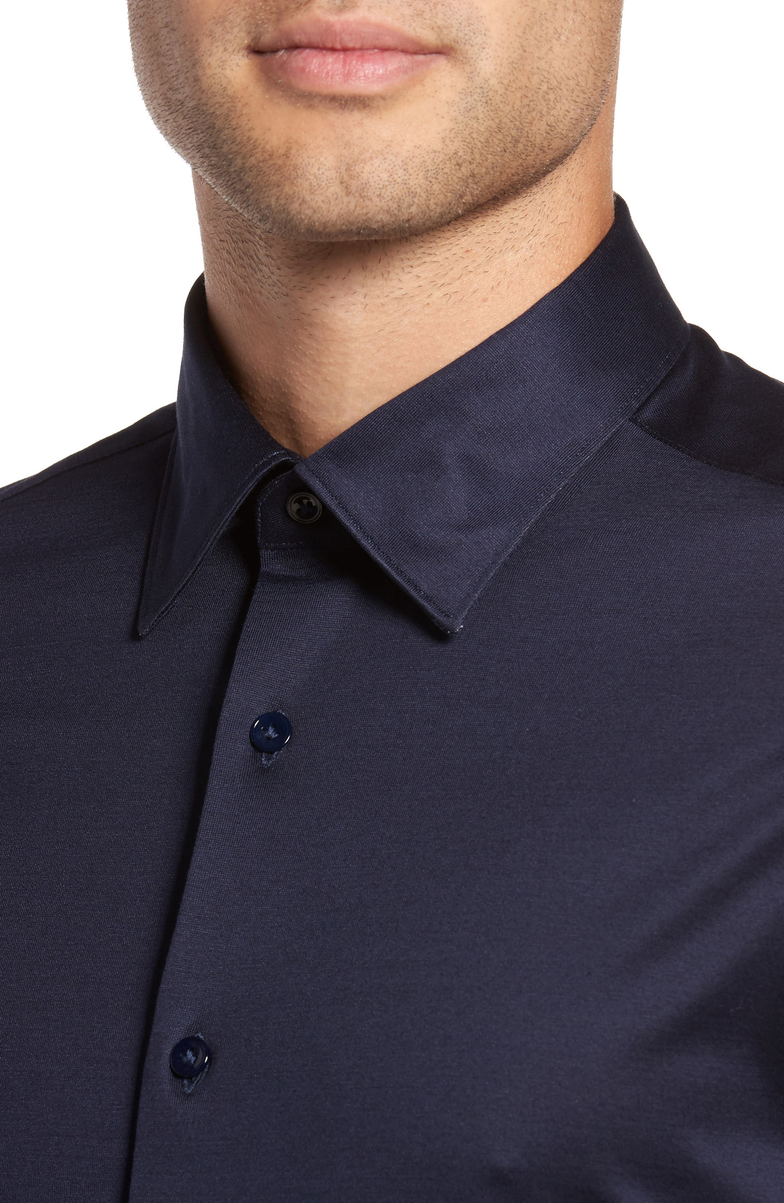 Alternate Image 4  - Pal Zileri Jersey Sport Shirt