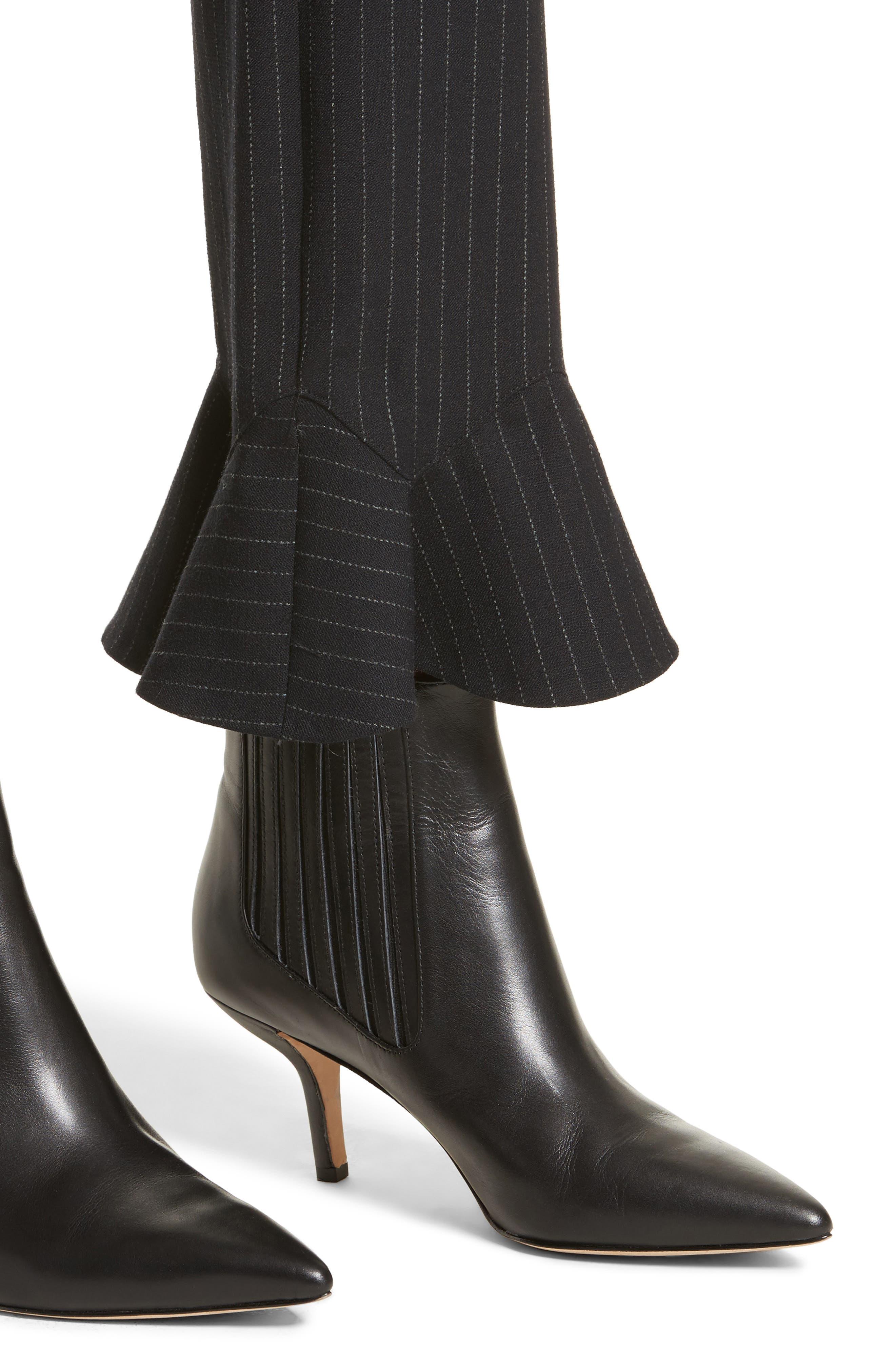 Alternate Image 4  - Rebecca Taylor Pinstripe Ruffle Pants