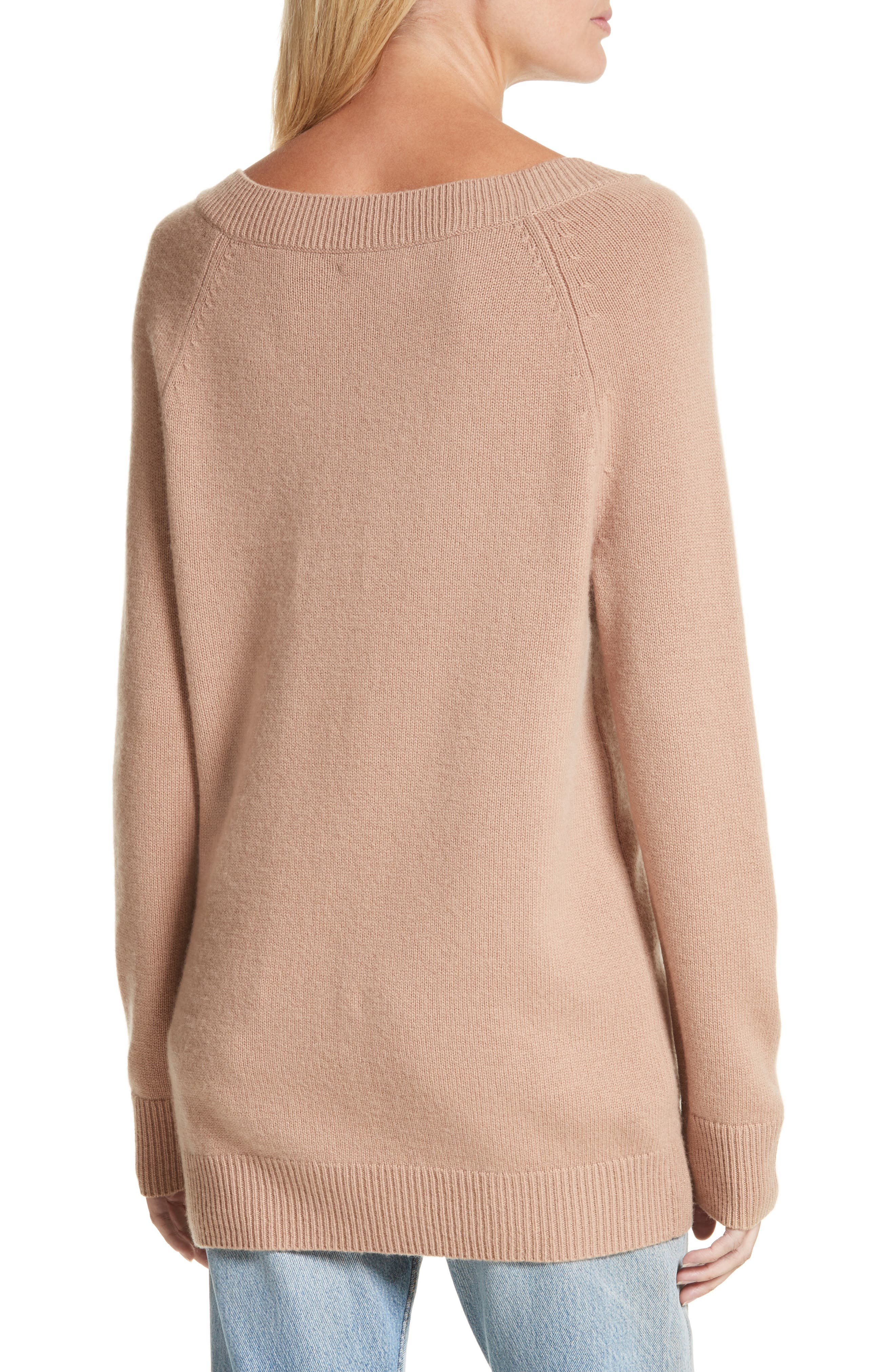 Cody Wool & Cashmere Boatneck Sweater,                             Alternate thumbnail 2, color,                             Camel