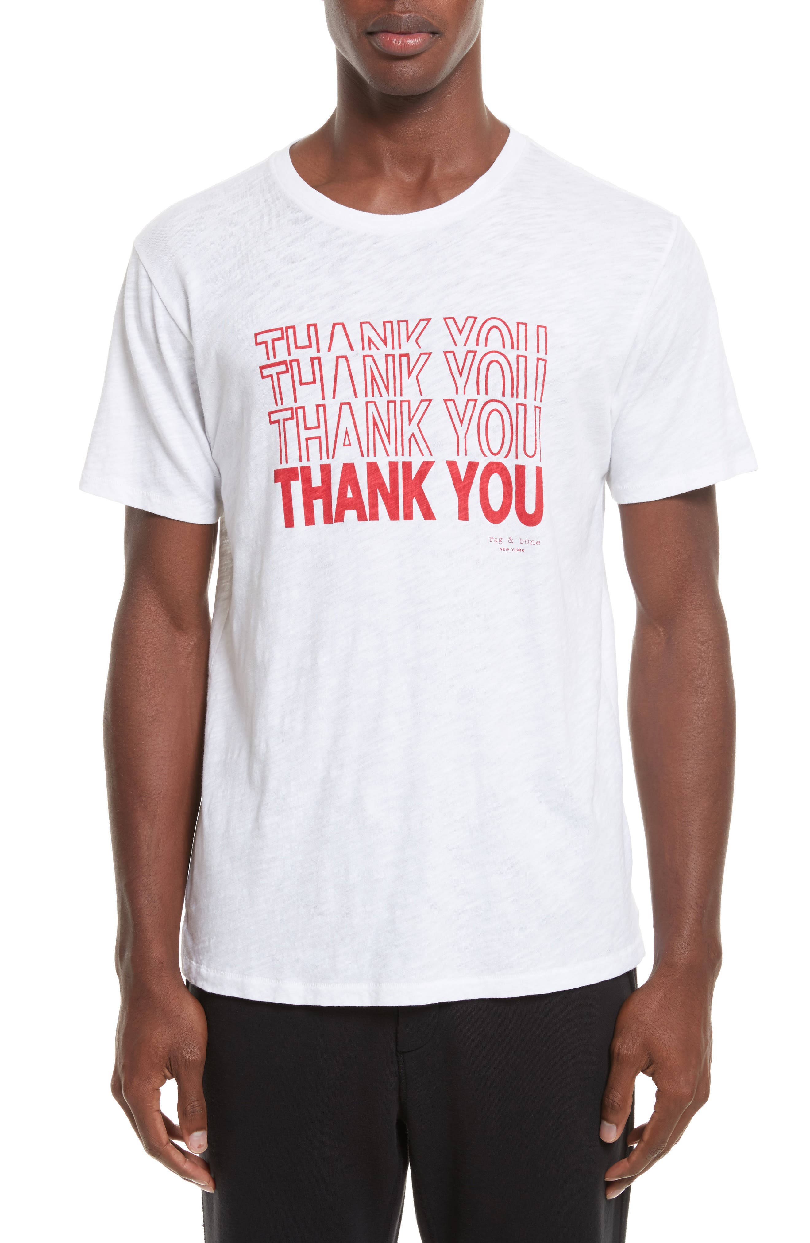 Thank You Graphic T-Shirt,                         Main,                         color, White
