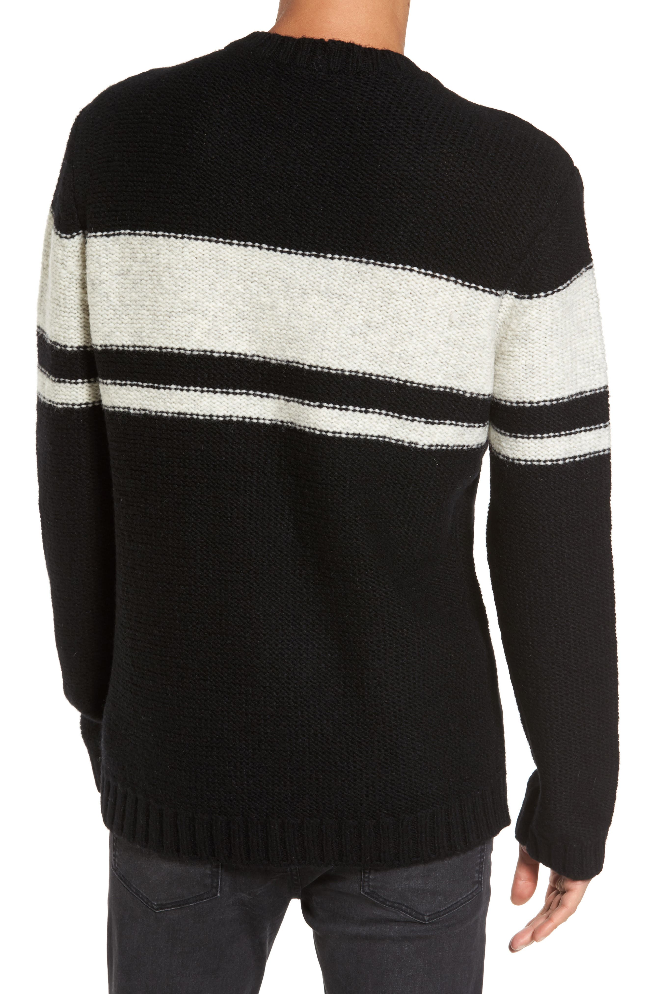 Blume Sweater,                             Alternate thumbnail 2, color,                             Black Boom