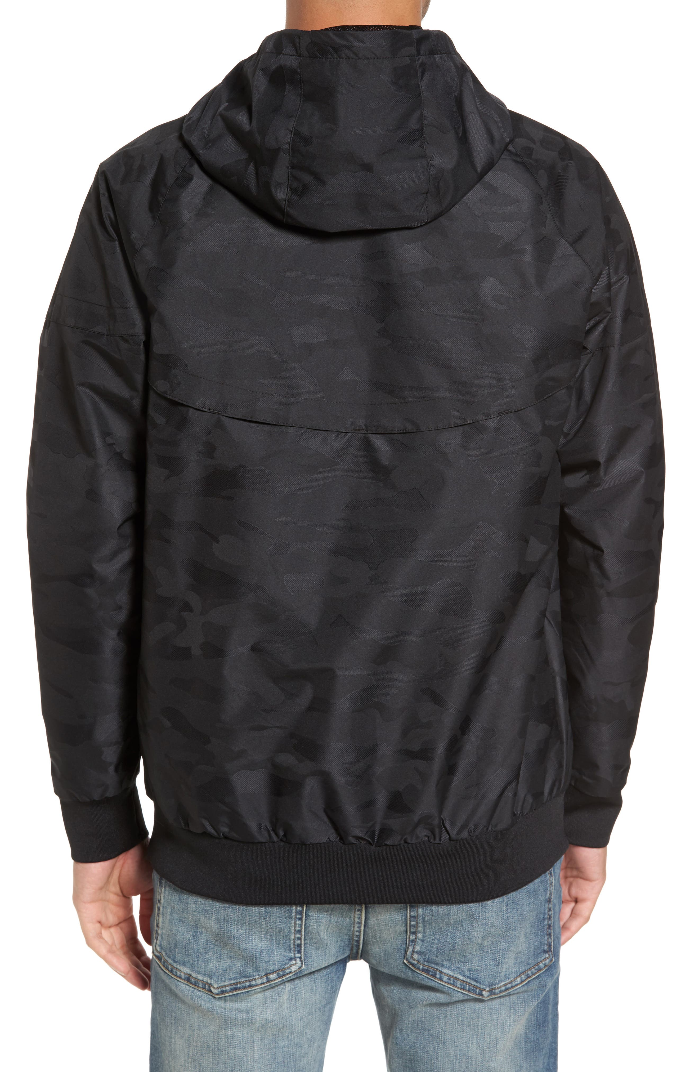 Larter Breaker Jacket,                             Alternate thumbnail 2, color,                             Black Camo