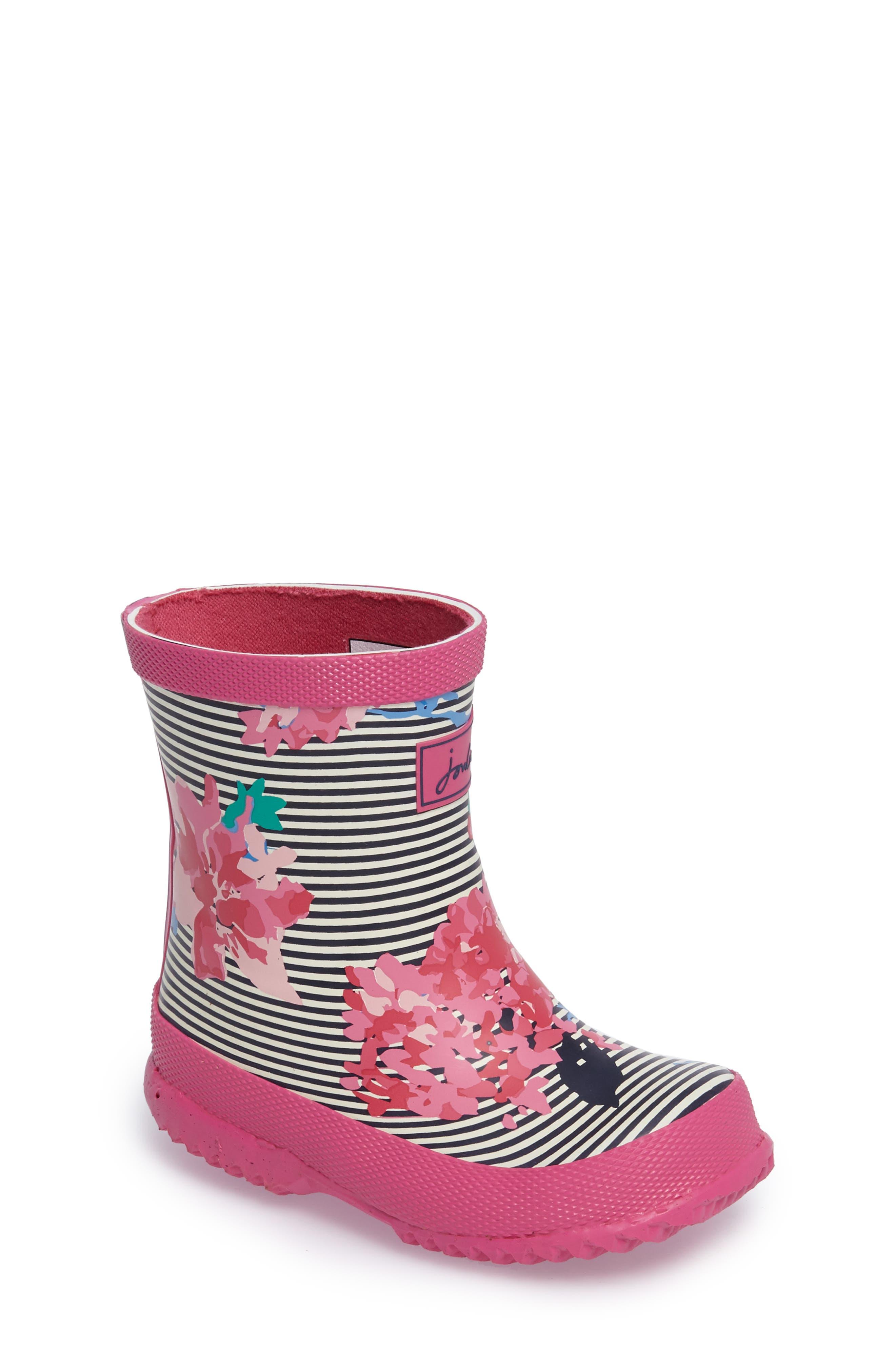 Joules Printed Waterproof Rain Boot (Walker, Toddler & Little Kid)