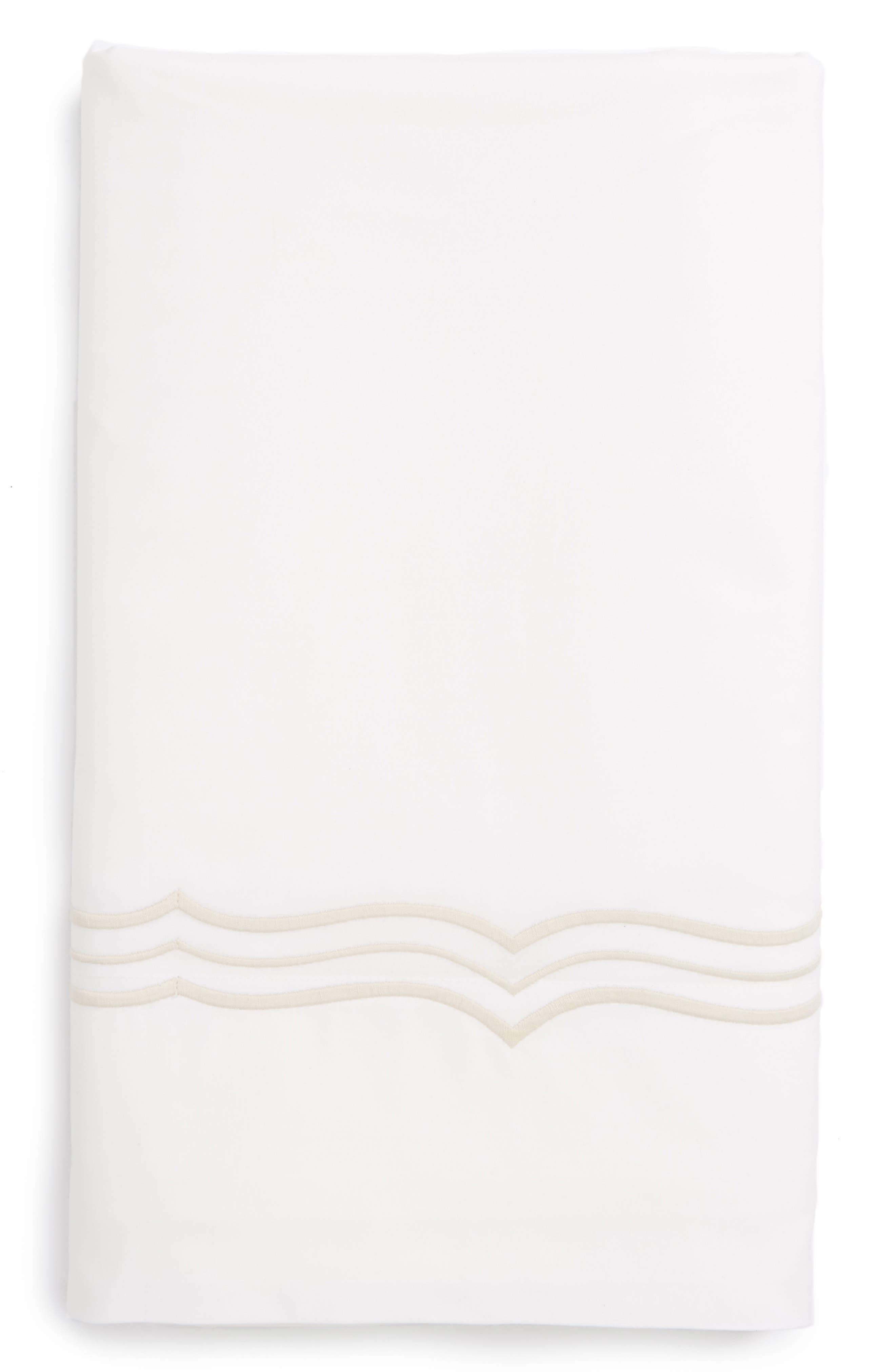 Paola 520 Thread Count Flat Sheet,                         Main,                         color, Beech