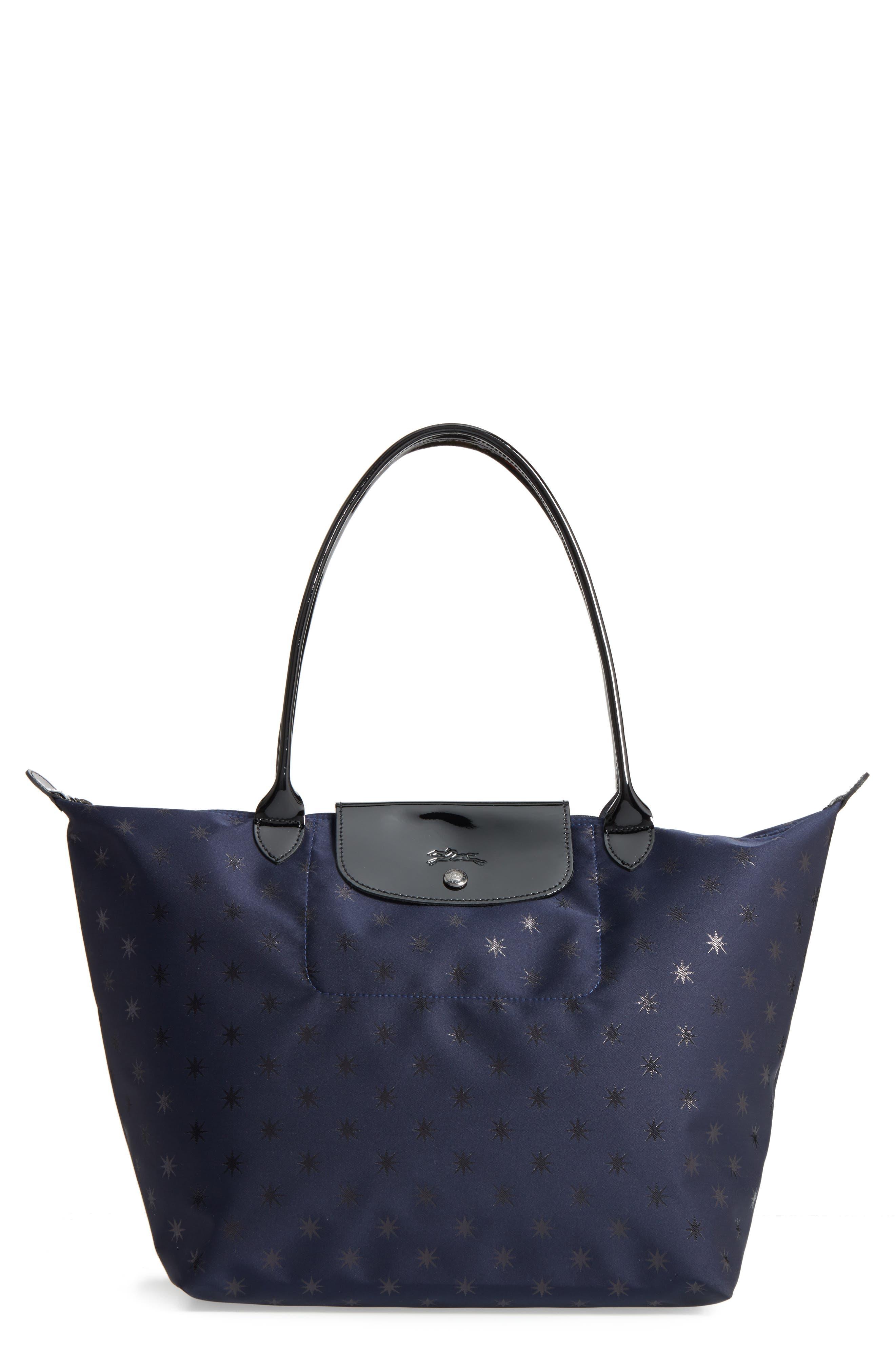 Longchamp Bag Le Pliage House Of Fraser : Longchamp le pliage cuir etoiles tote