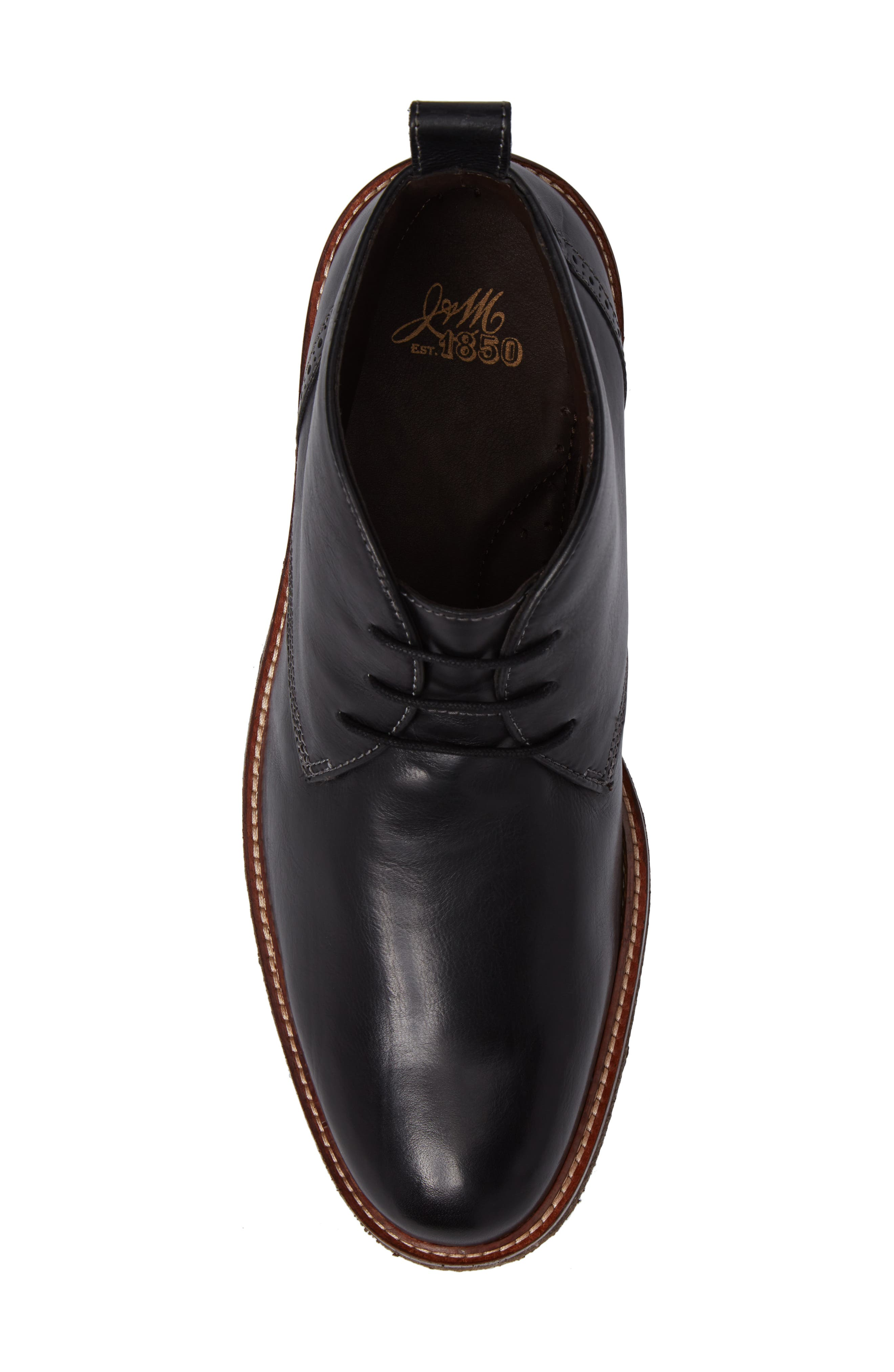 Forrester Chukka Boot,                             Alternate thumbnail 5, color,                             Black Leather