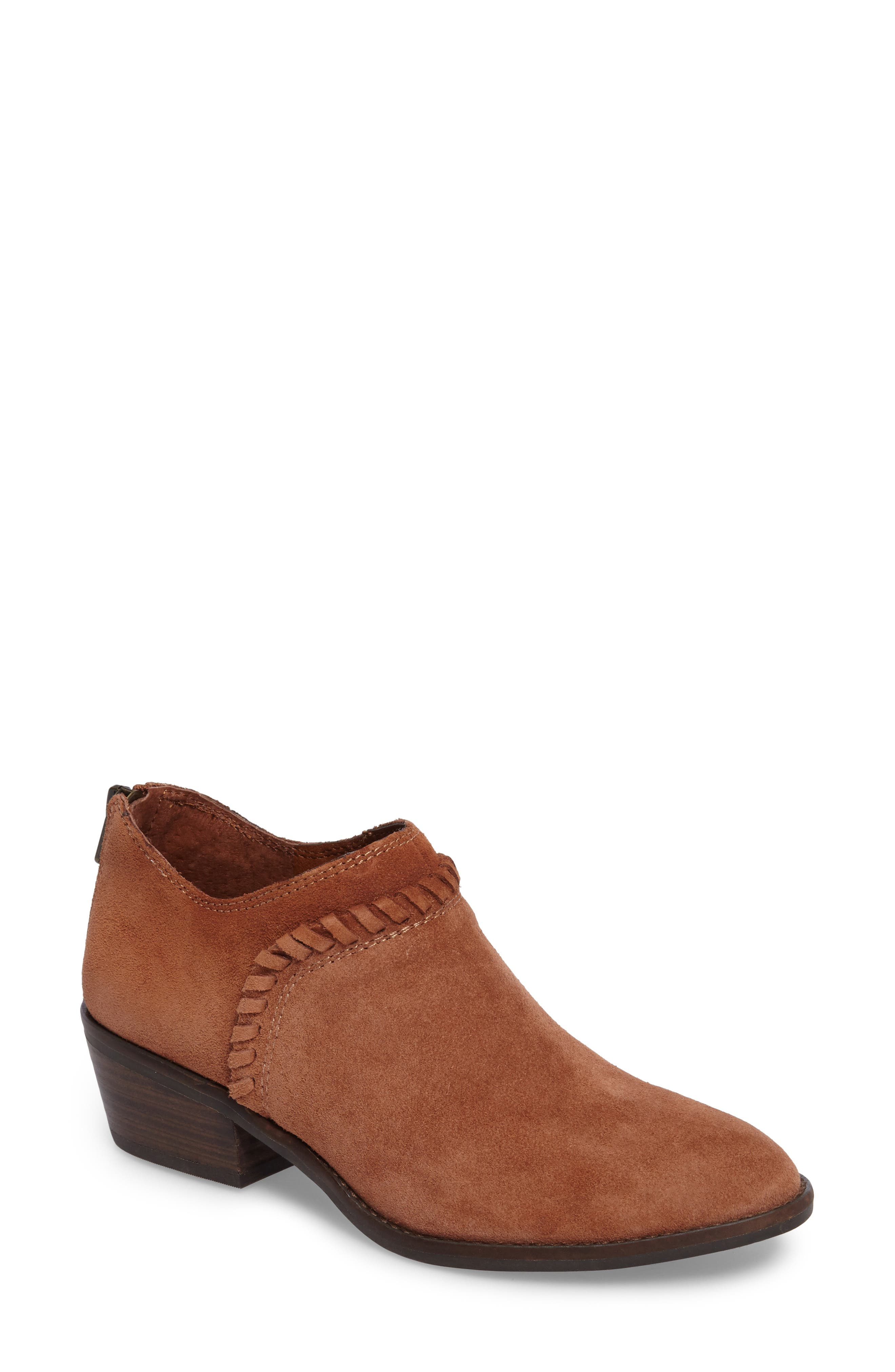 Fawnn Bootie,                         Main,                         color, Toffee Suede
