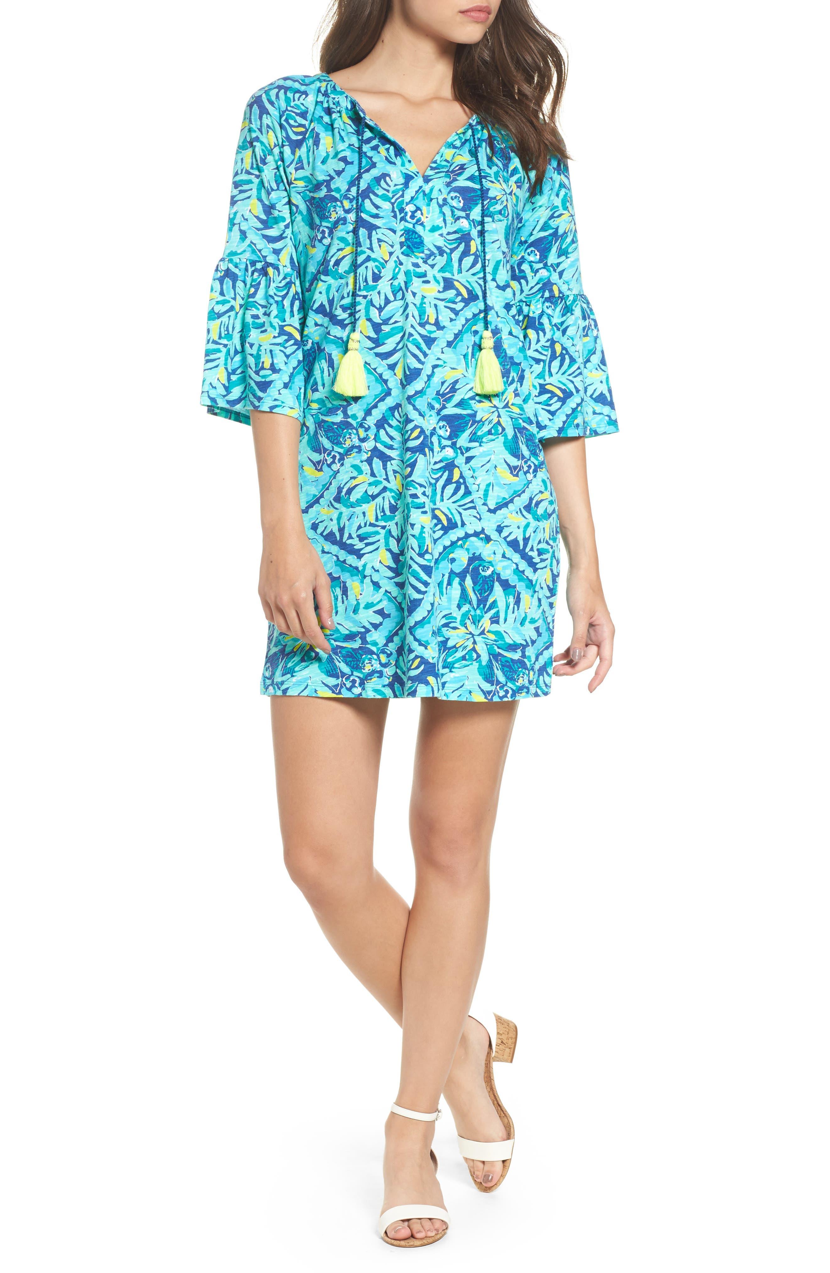 Del Lago Tunic Dress,                         Main,                         color, Indigo Midnight Cove