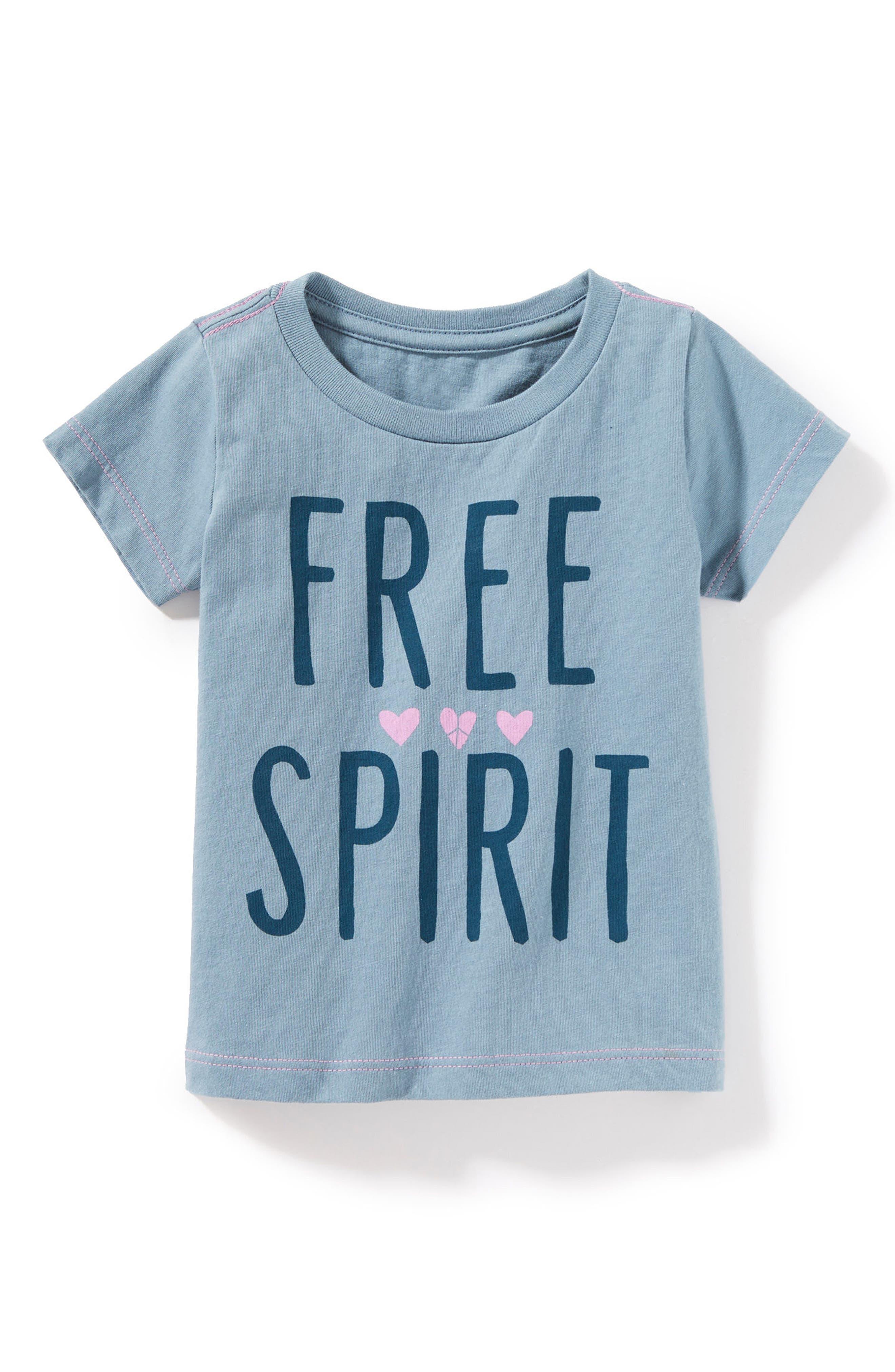 Alternate Image 1 Selected - Peek Free Spirit Graphic Tee (Baby Girls)