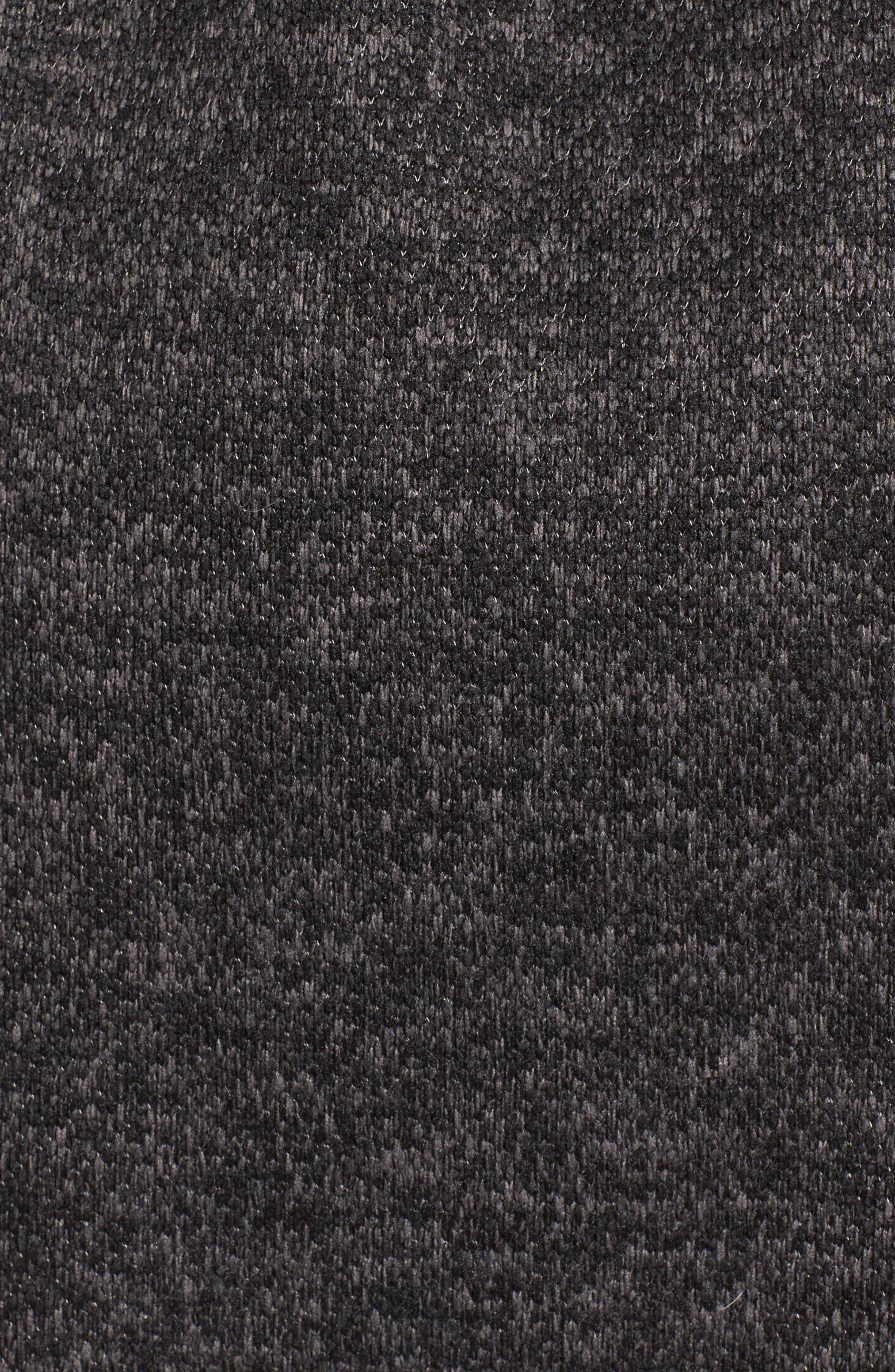Fleece Wrap Coat,                             Alternate thumbnail 5, color,                             Charcoal Heather